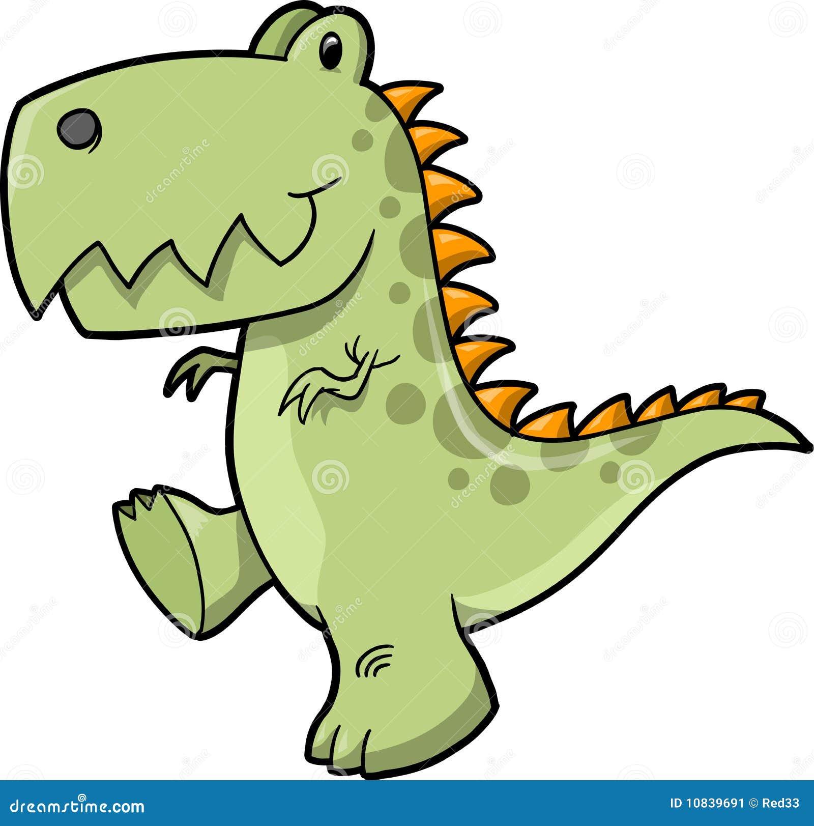 Tyrannosaurus Dinosaur Vector Illustration Stock Vector ...