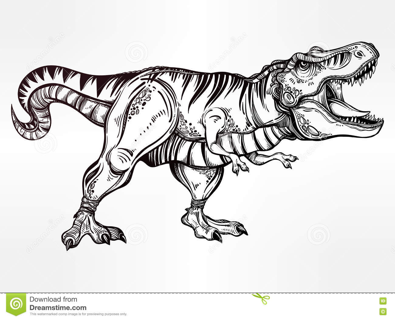 tyrannosaurus-dinosaur-vector-illustration-highly-detailed-t-rex-ideal-coloring-page-shirt-design-effect-logo-tattoo-75675736