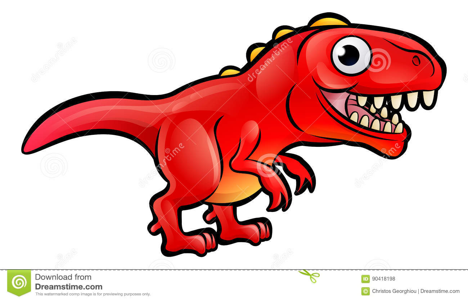 Download Tyrannosaurus Rex Dinosaur Cartoon Character Stock Vector