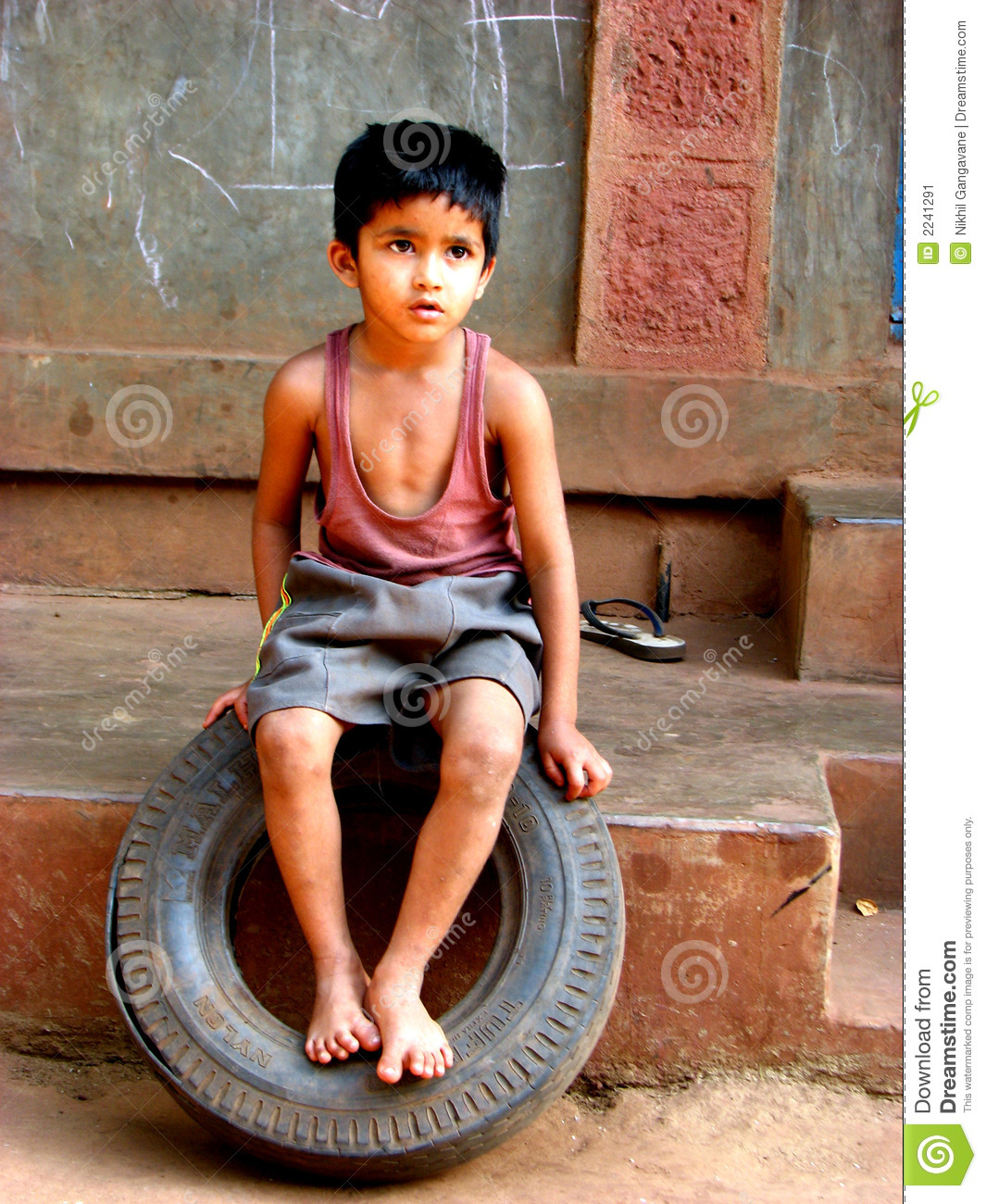 Tyre Boy Stock Image Image Of Hairstyle Looking Look