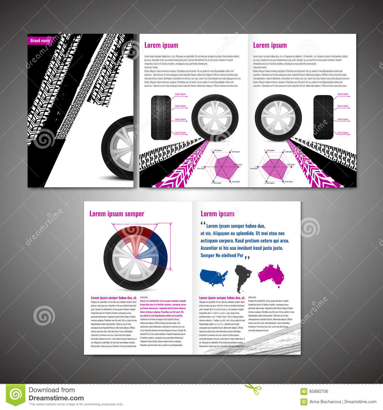tyre brochure design stock vector illustration of booklet 85880706