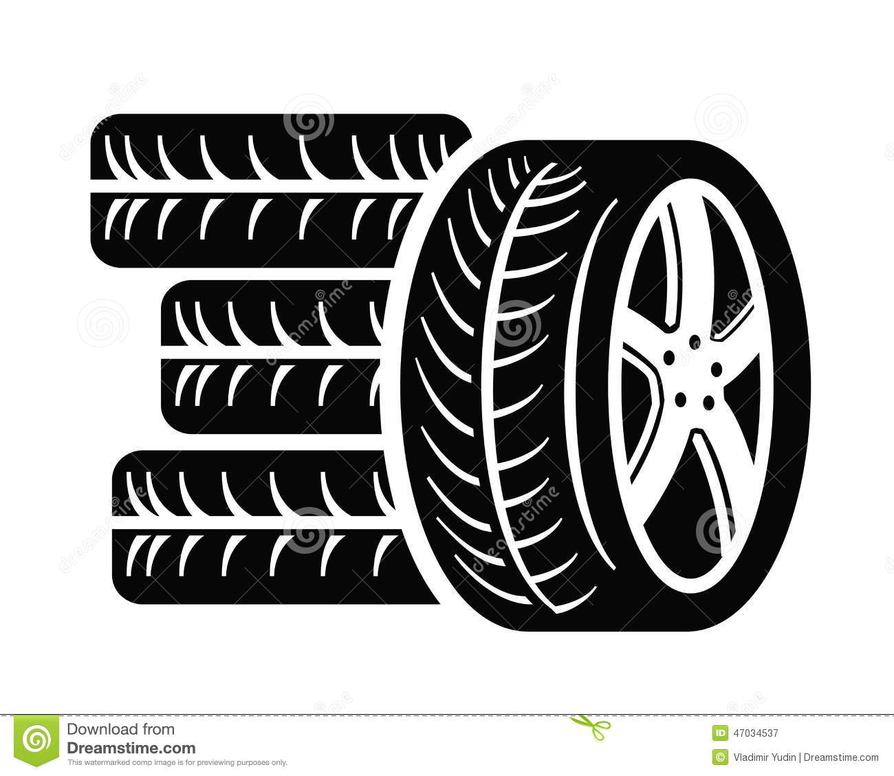 tyre icon stock vector illustration of radial symbol 47034537