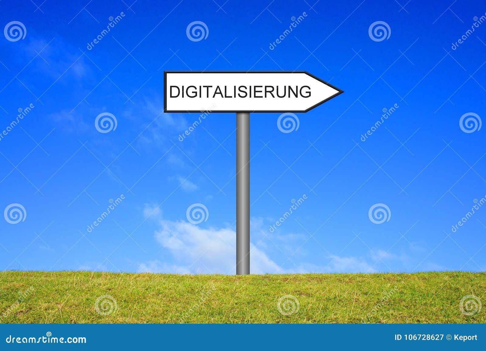 Tysk för vägvisarevisningDigitalization