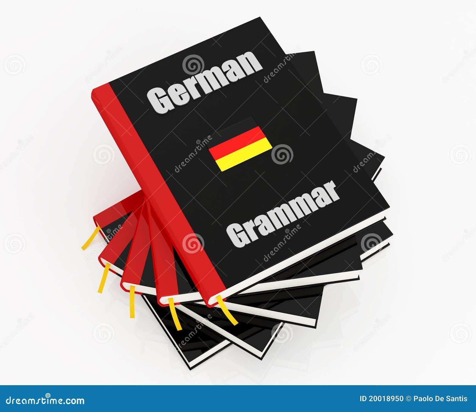 Tysk grammatik stock illustrationer  Illustration av stapel