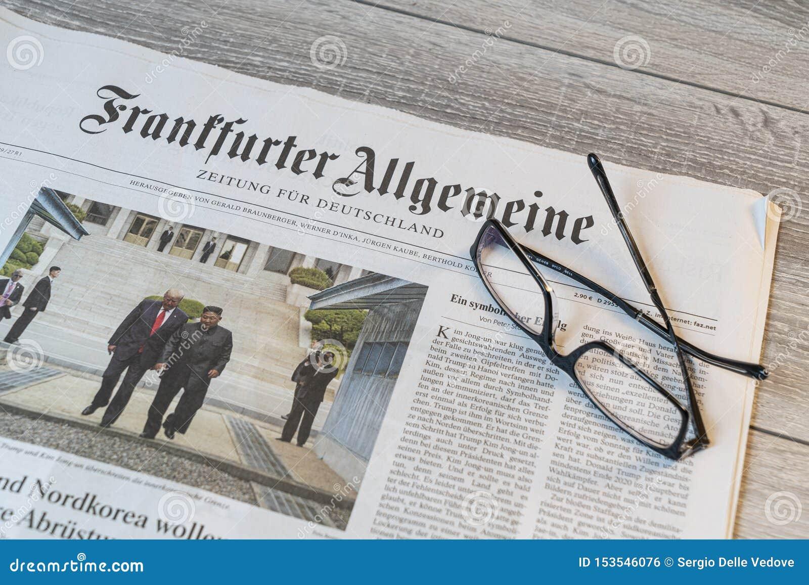 Tysk tidning för Frankfurter Allgemeine