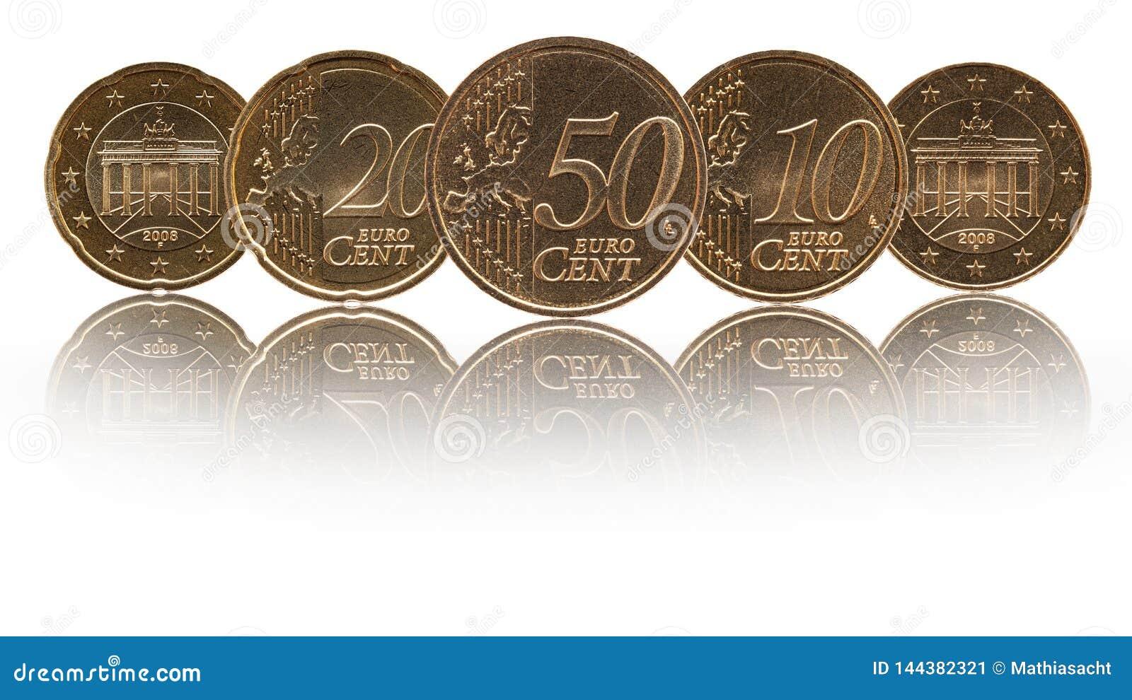 Tyska mynt för Tyskland för eurocent