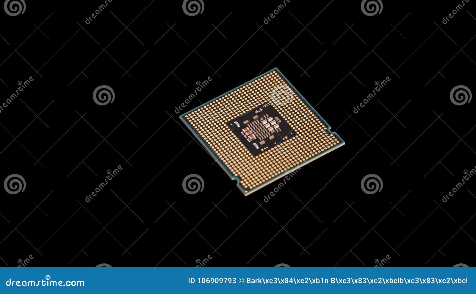 Tytułowa jednostka centralna, procesor Komputerowa środkowego procesoru jednostka na czarnym tle