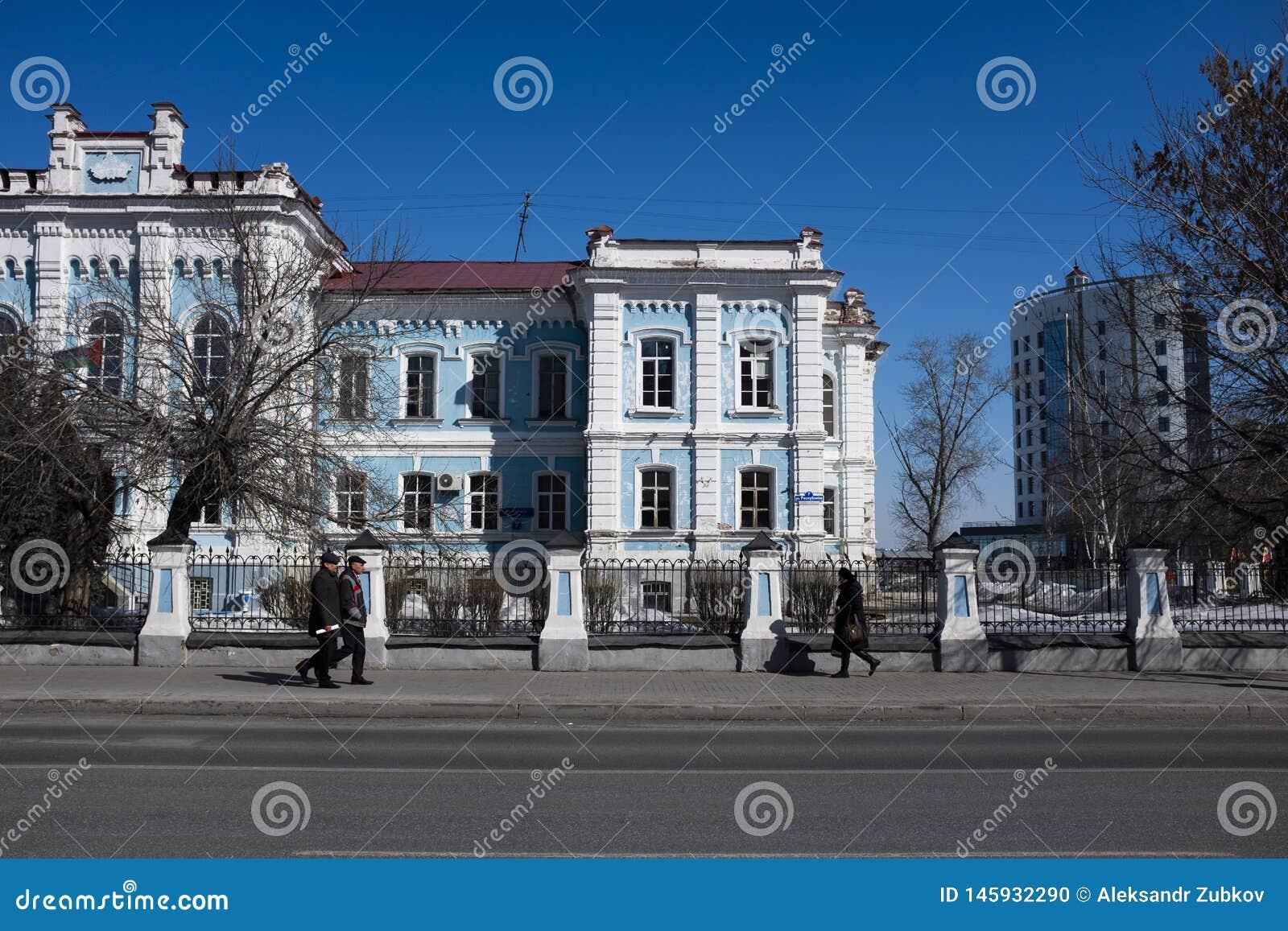 Tyumen, Rusia - 24 de marzo de 2017 Universidad agraria del estado de la academia agrícola anterior septentrional de Transporte-U