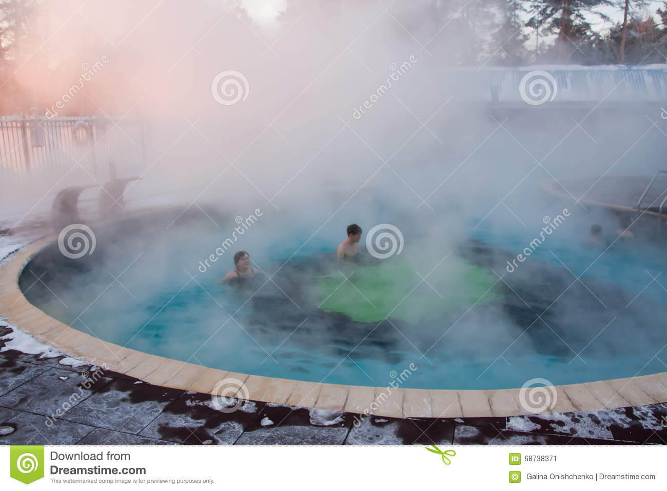 Tyumen Russia  city photos : TYUMEN, RUSSIA, January 31.2016: Swimming pool with thermal water in ...