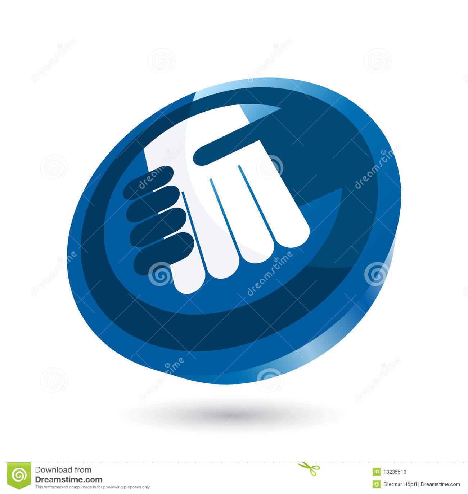 Uścisk dłoni błękitny ikona