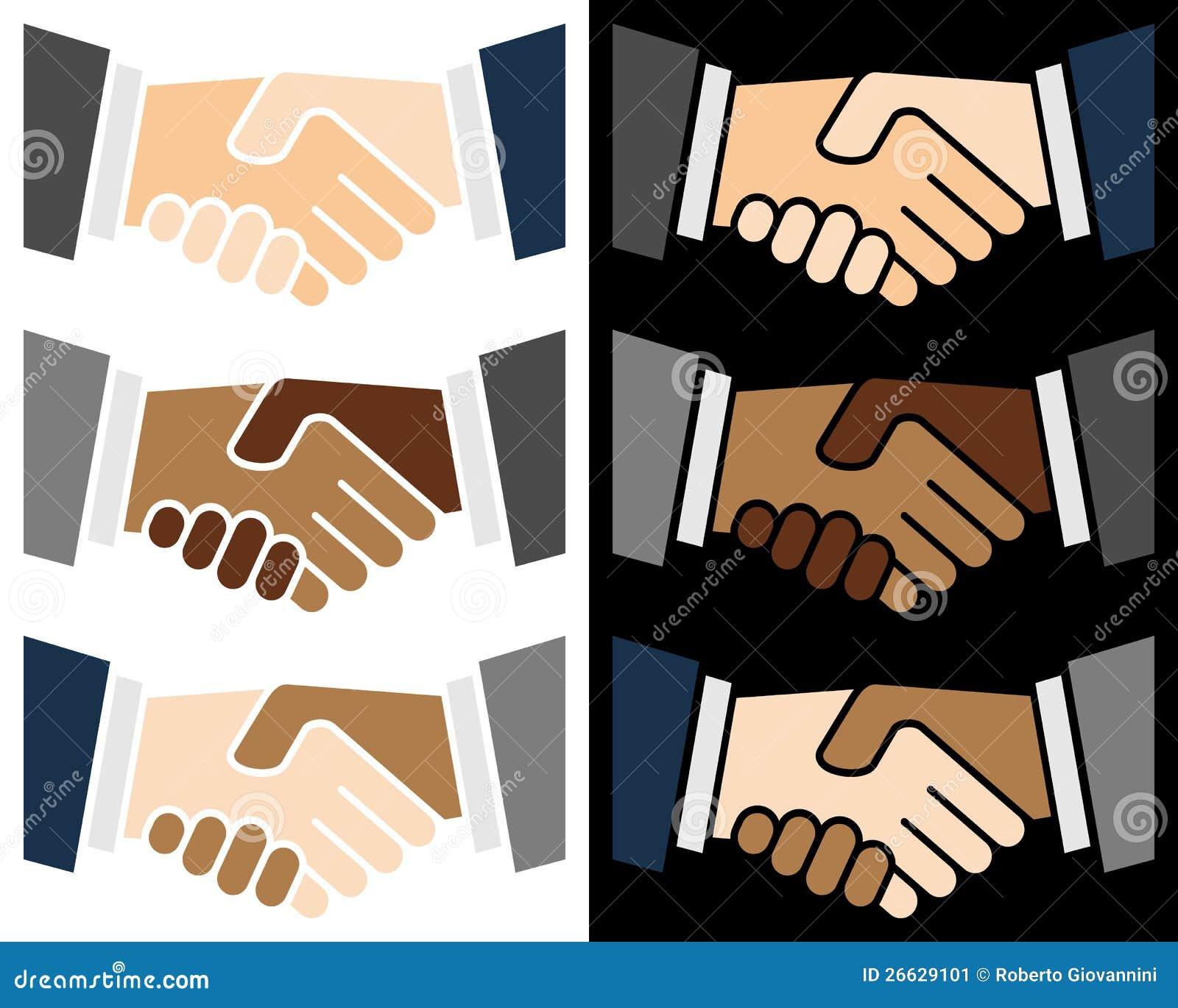 Uścisk dłoni kolorowy Logo