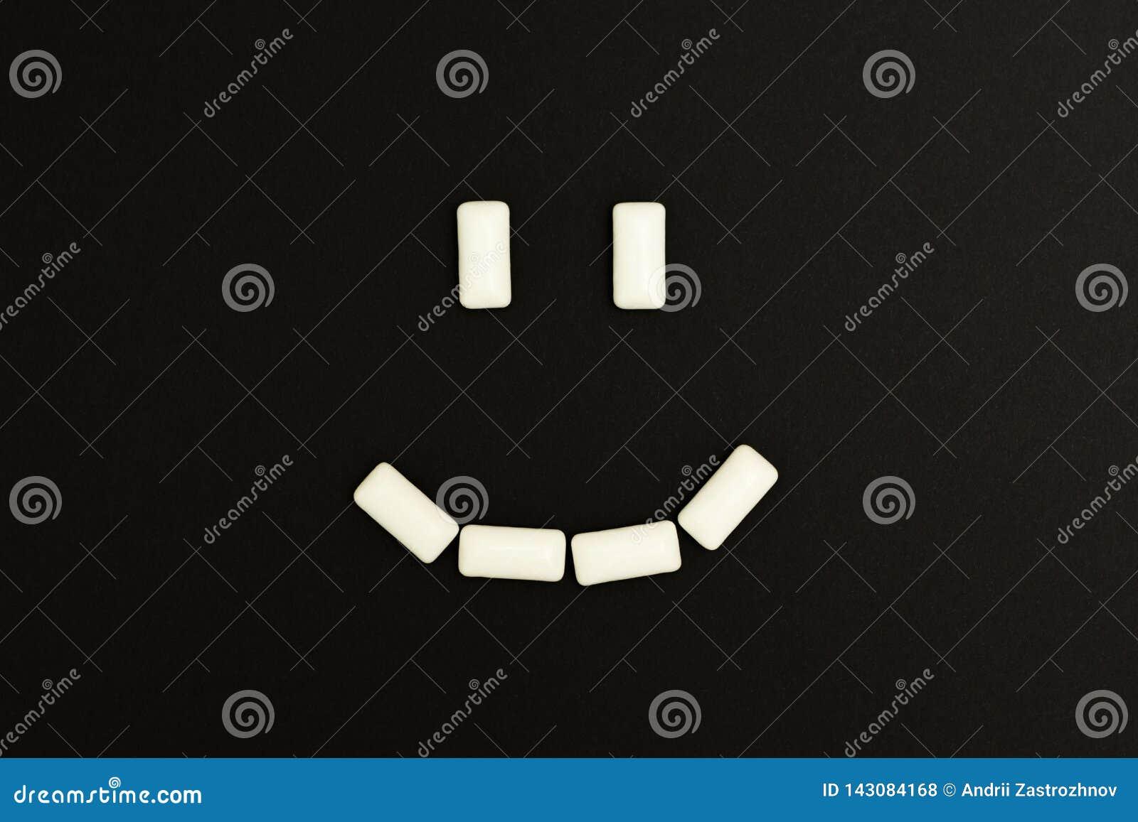 Uśmiech guma do żucia ochraniacze