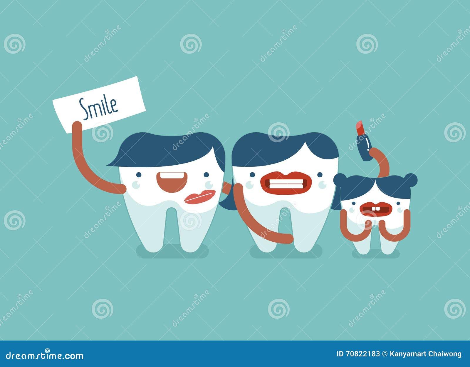 Uśmiech stomatologiczna rodzina
