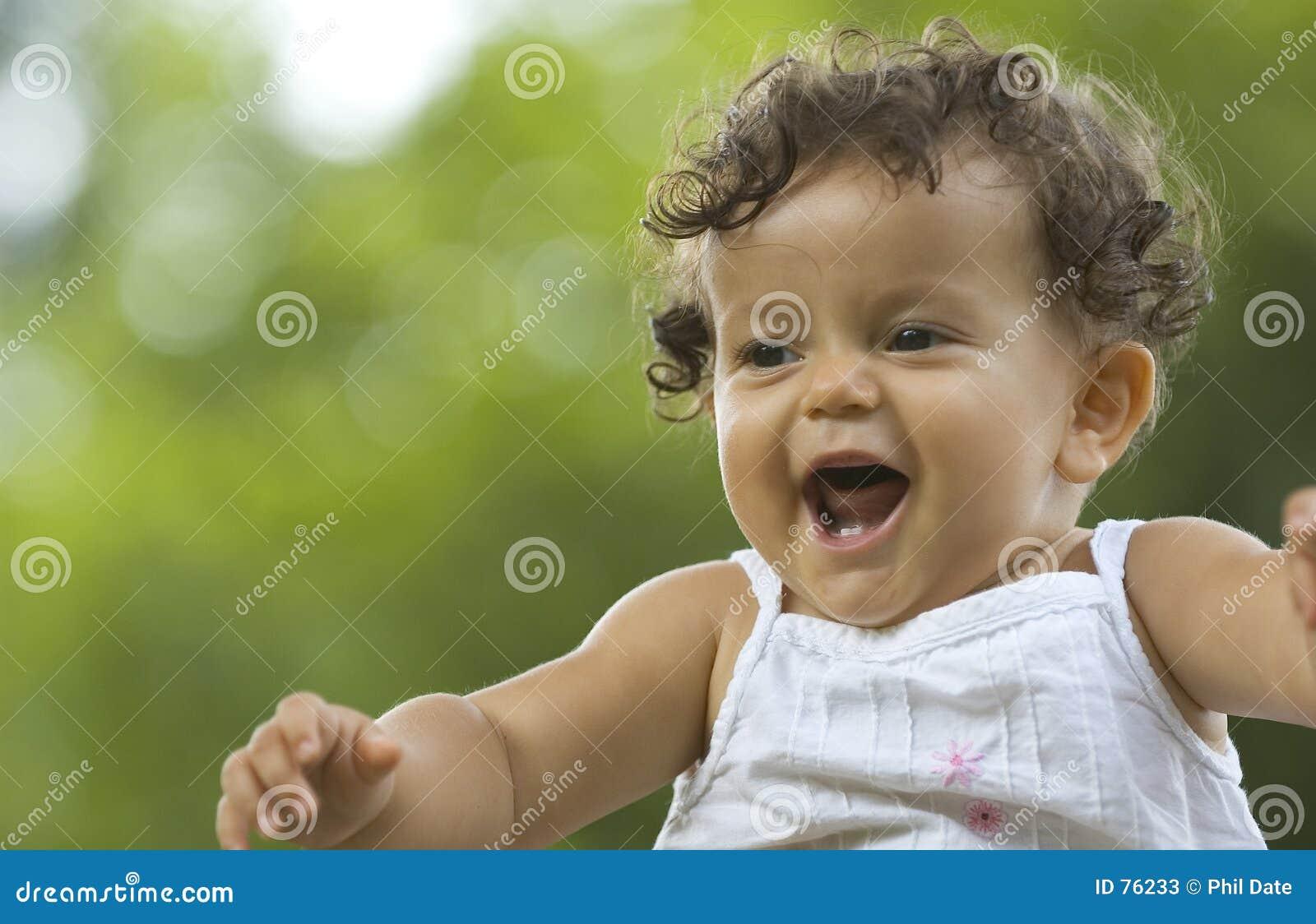 Uśmiecha się dziecka