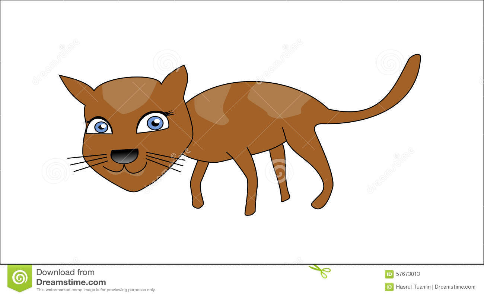 Uśmiecha się kota