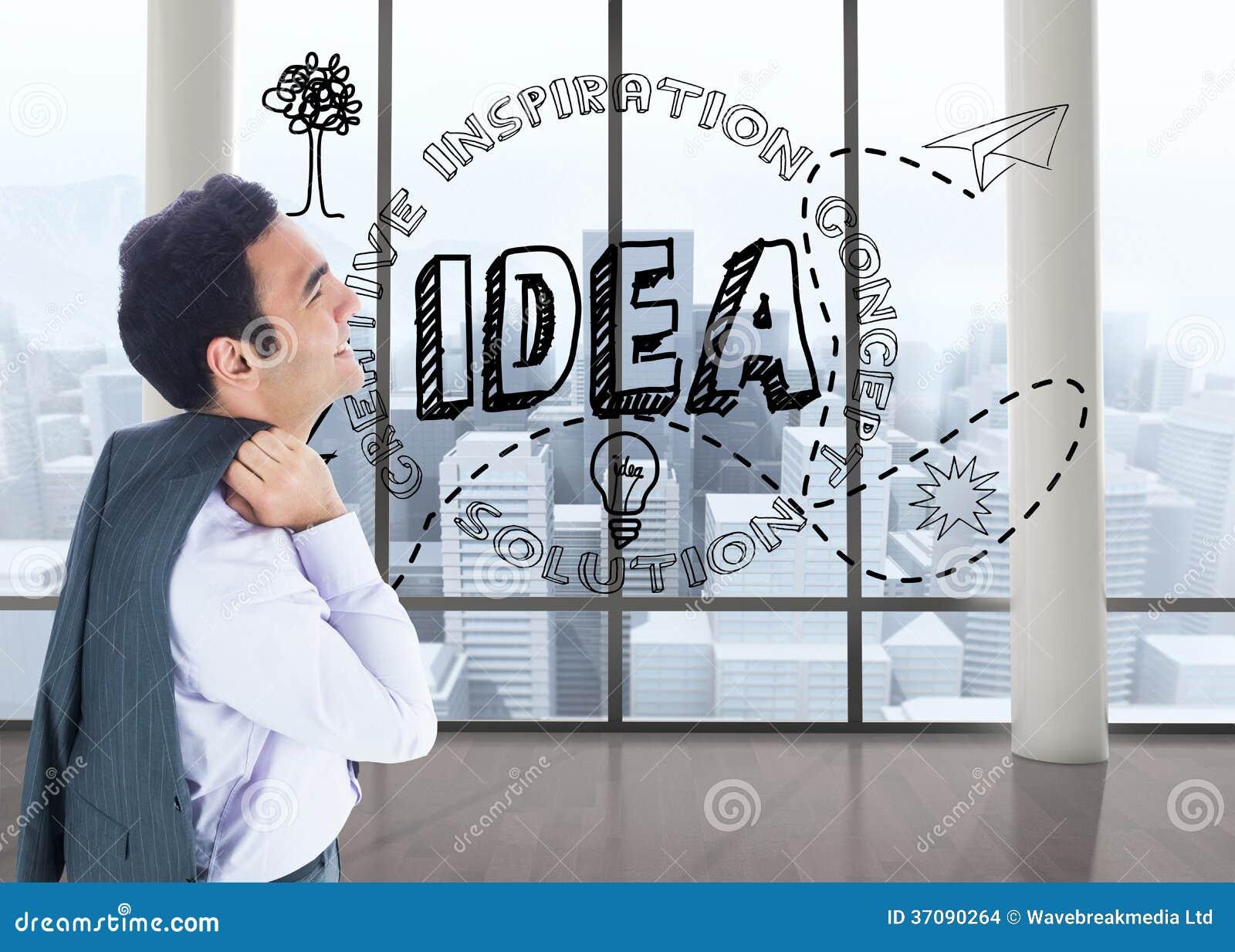 Download Uśmiechnięta Biznesmen Pozycja Zdjęcie Stock - Obraz złożonej z innovate, miastowy: 37090264