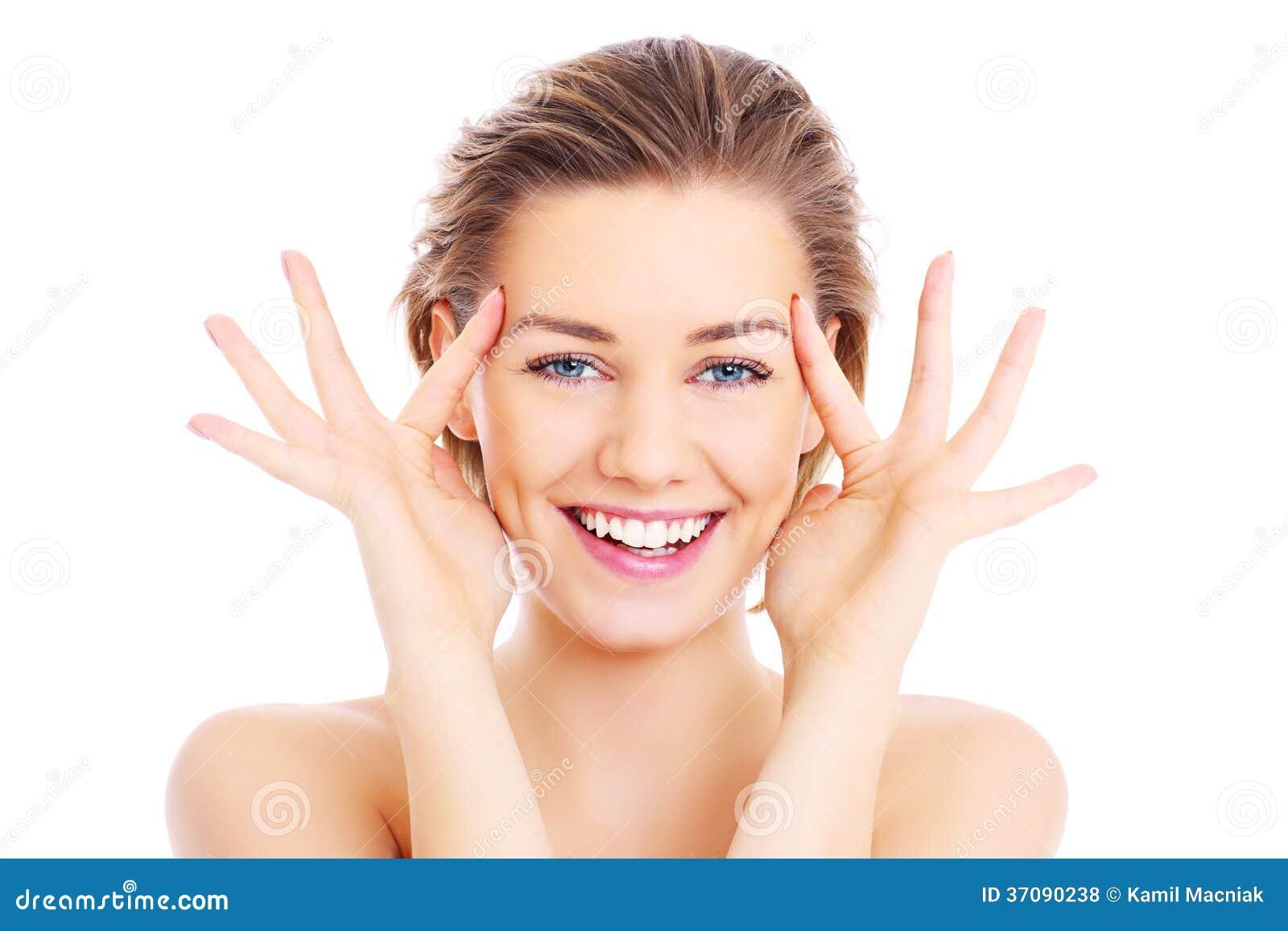Download Uśmiechnięta dziewczyna zdjęcie stock. Obraz złożonej z dorosły - 37090238