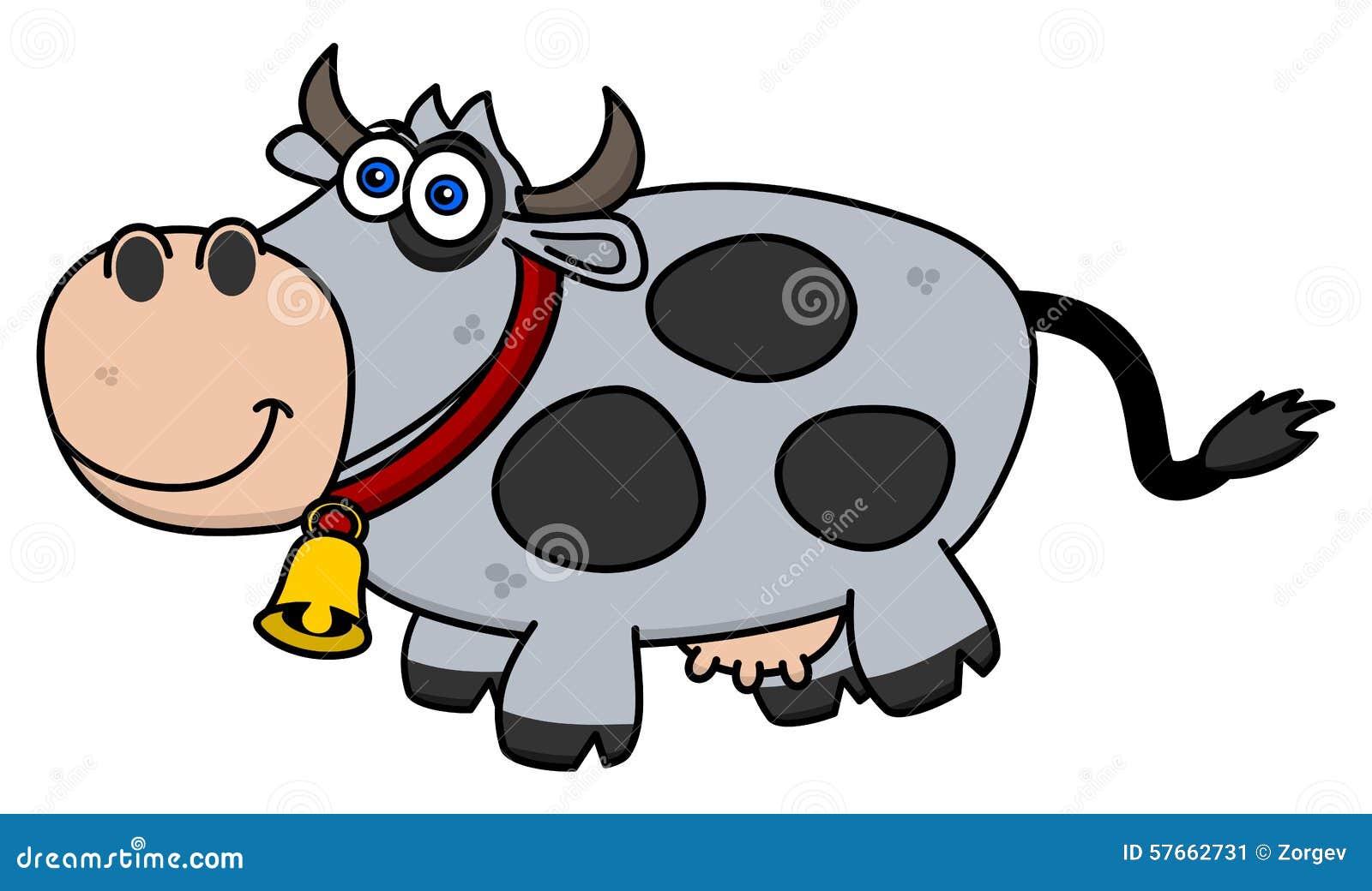 Uśmiechnięta krowa na profilu
