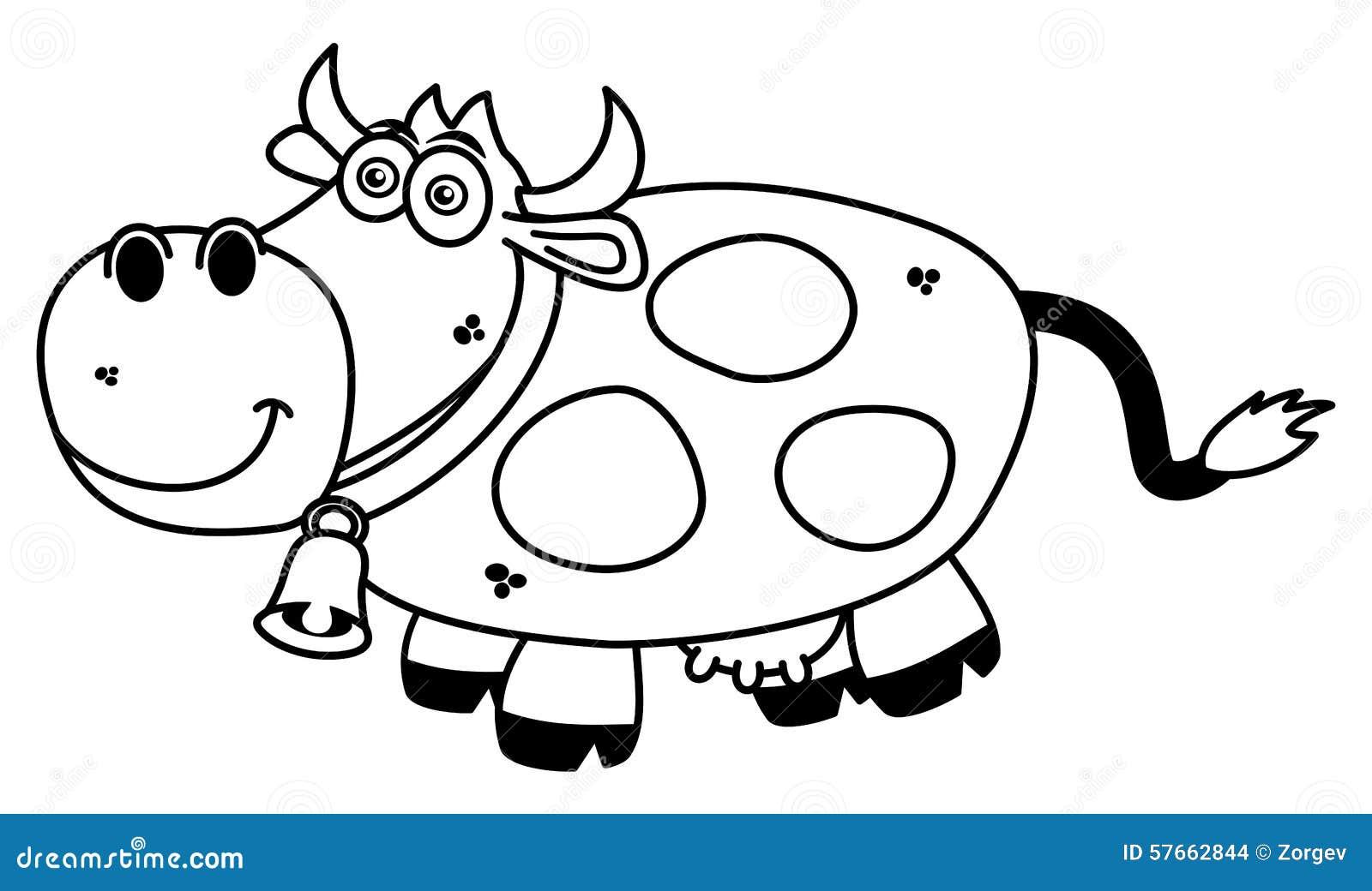 Uśmiechnięta krowy kolorystyka