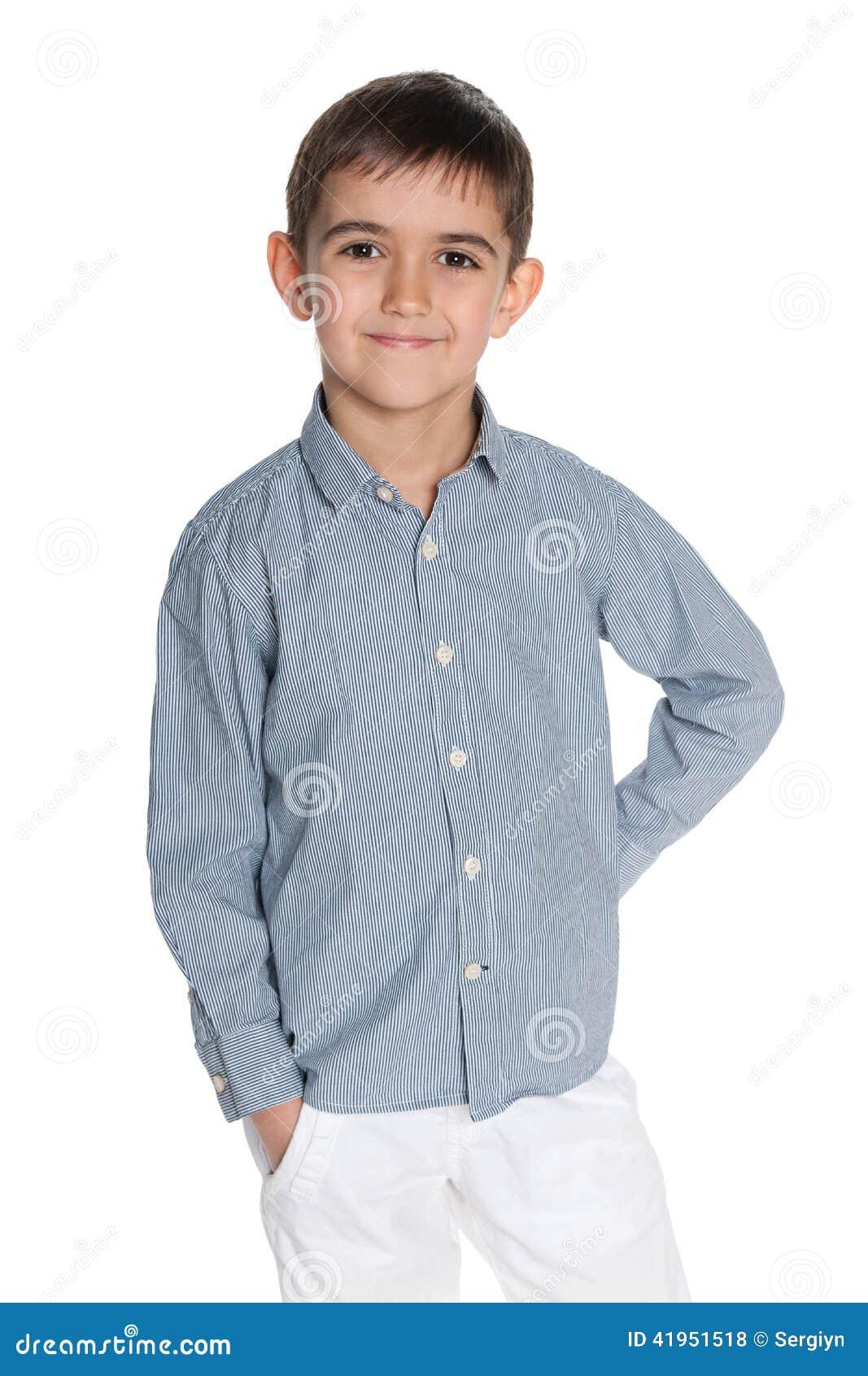 Uśmiechnięta mod potomstw chłopiec