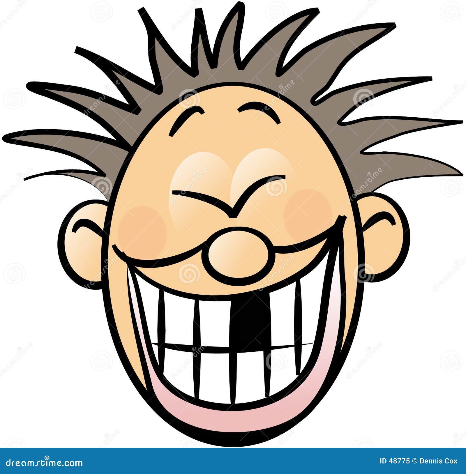 Uśmiechnięta twarz brakuje zęba