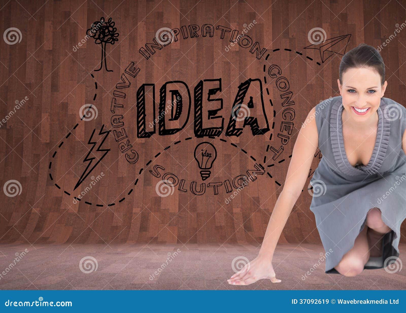 Download Uśmiechnięta Wspaniała Kobieta Dostaje Przygotowywający Dla Odjazdu Obraz Stock - Obraz złożonej z komputer, grafika: 37092619