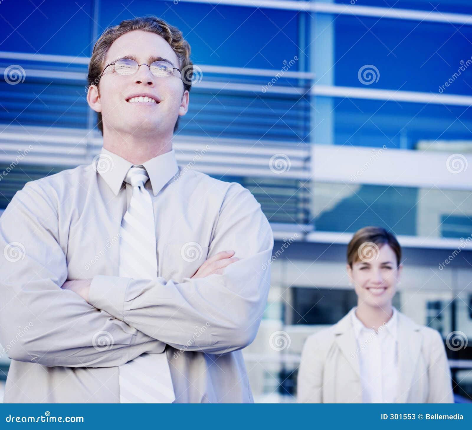 Uśmiechnięta zespół jednostek gospodarczych