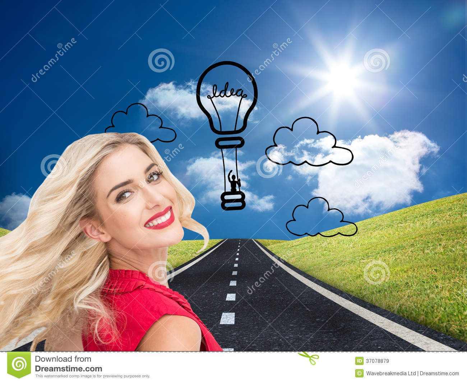 Download Uśmiechnięte Blondynki Pozyci Ręki Na Biodrach Ilustracji - Ilustracja złożonej z kobiety, osoba: 37078879