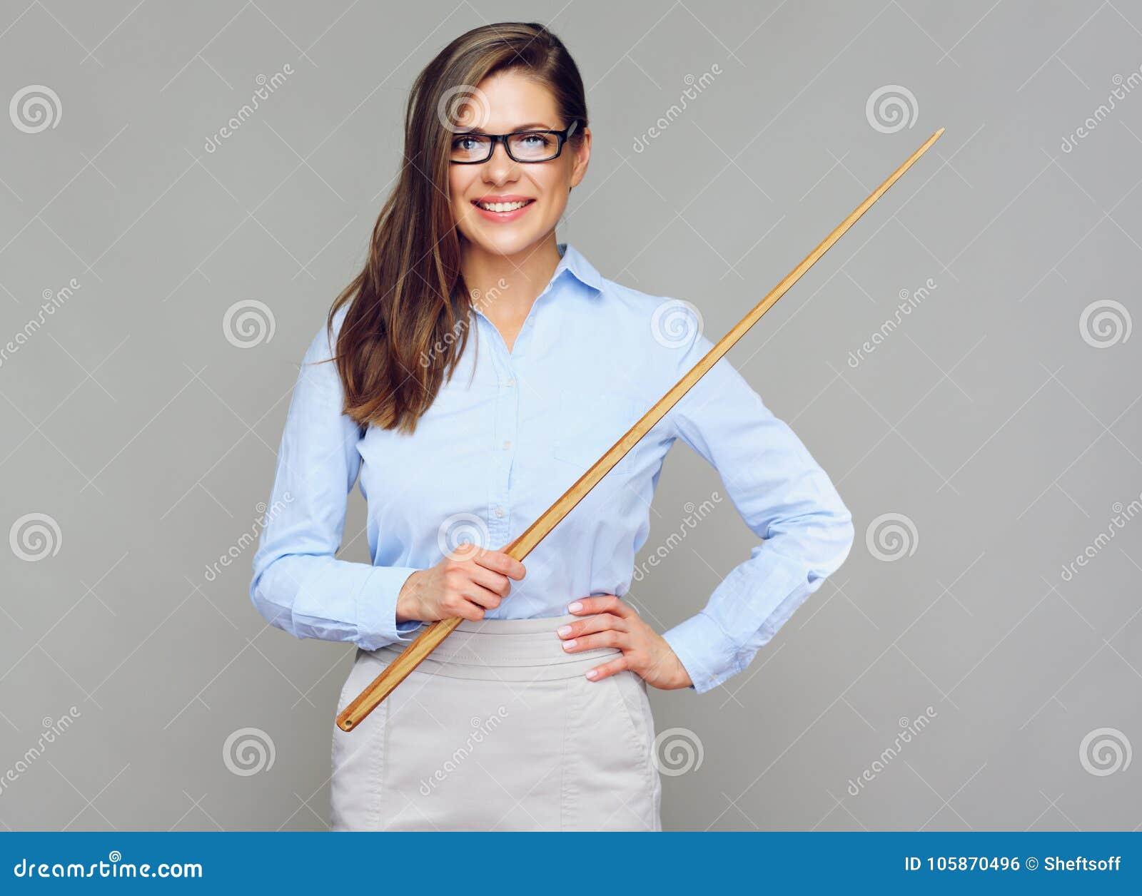 Uśmiechniętego kobieta nauczyciela charakteru odosobniony portret