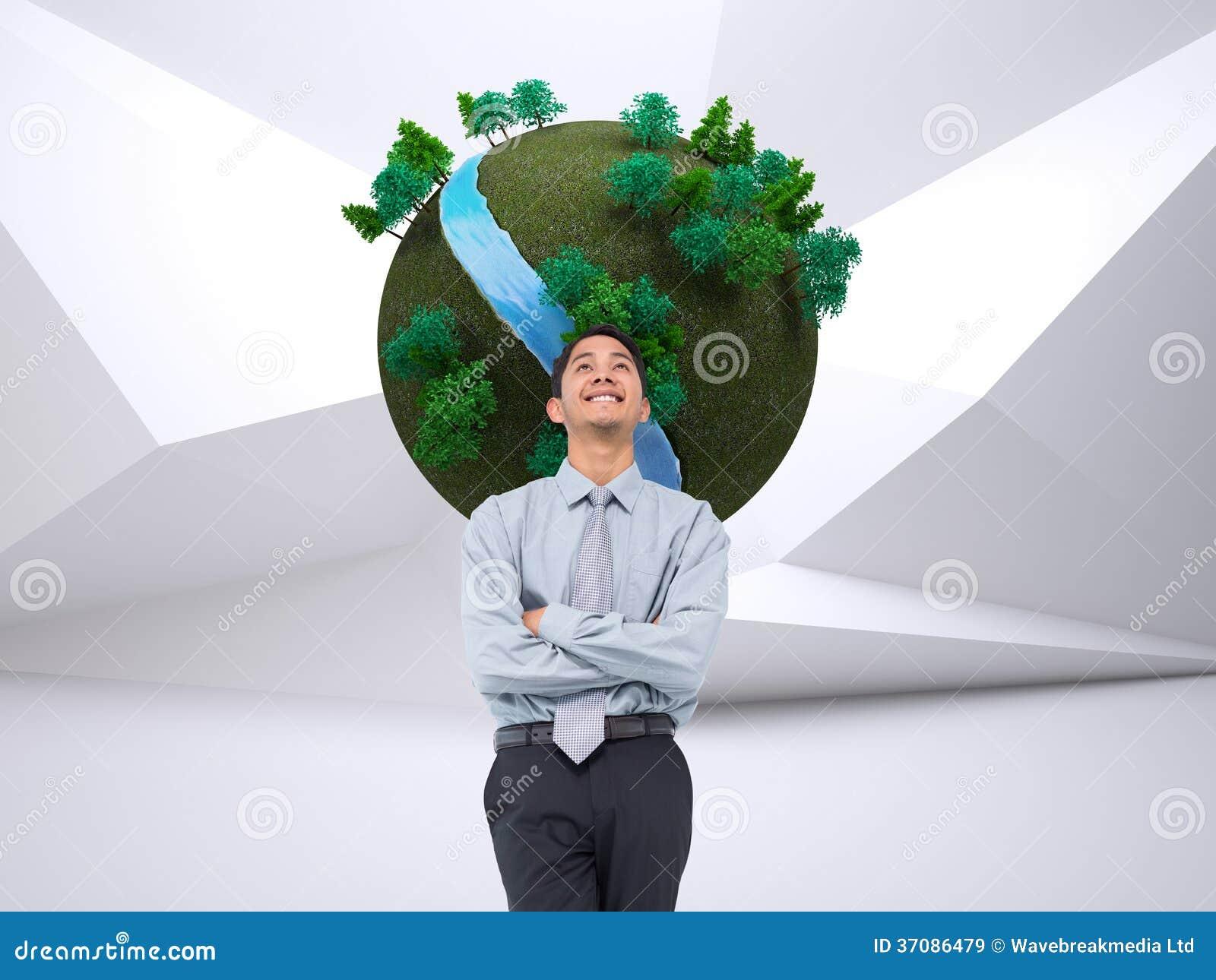 Download Uśmiechnięty Azjatykci Biznesmen Obraz Stock - Obraz złożonej z tekstura, środowisko: 37086479