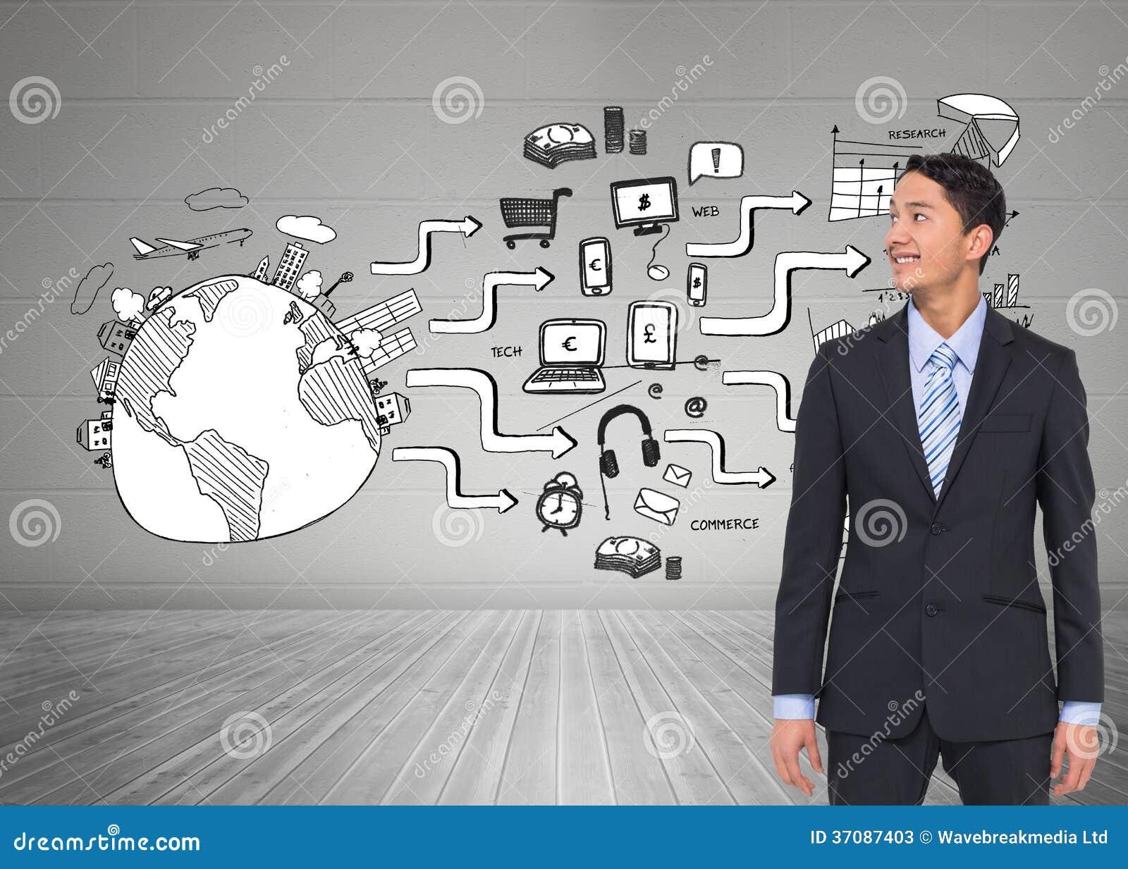 Download Uśmiechnięty Azjatykci Biznesmen Obraz Stock - Obraz złożonej z markham, globalny: 37087403
