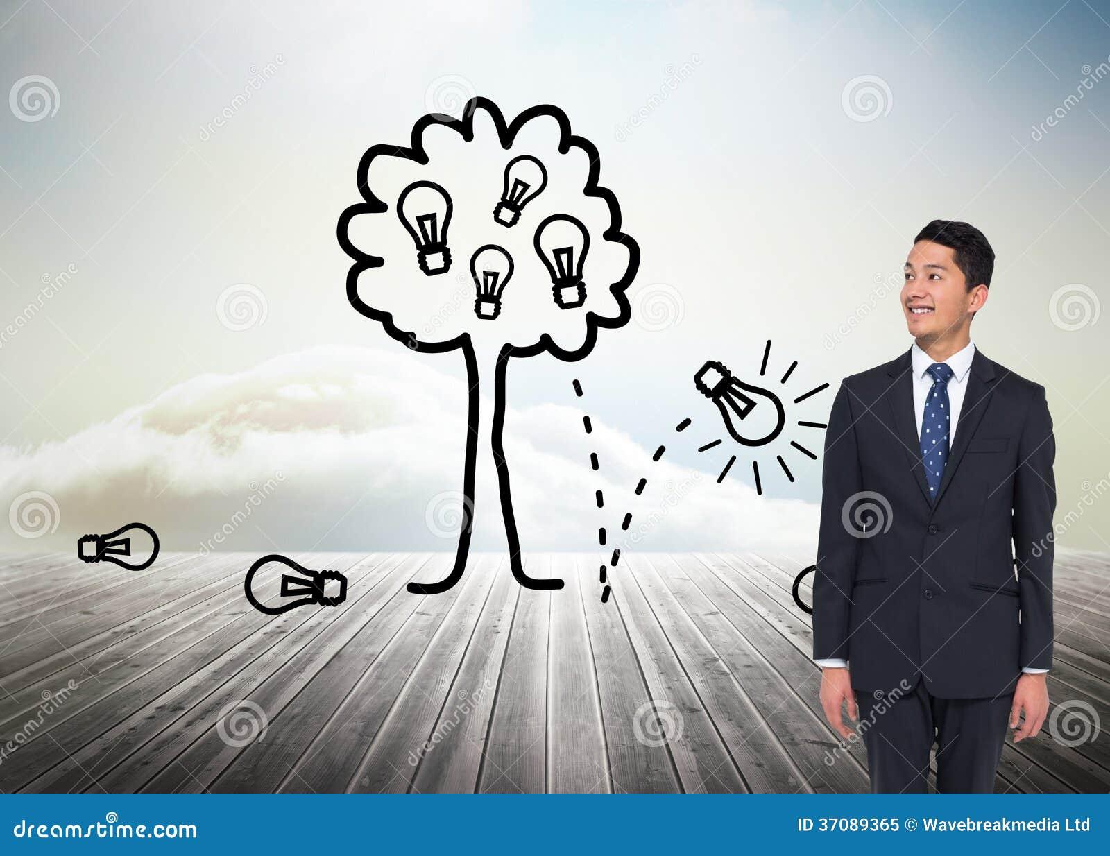 Download Uśmiechnięty Azjatykci Biznesmen Obraz Stock - Obraz złożonej z mężczyzna, błękitny: 37089365