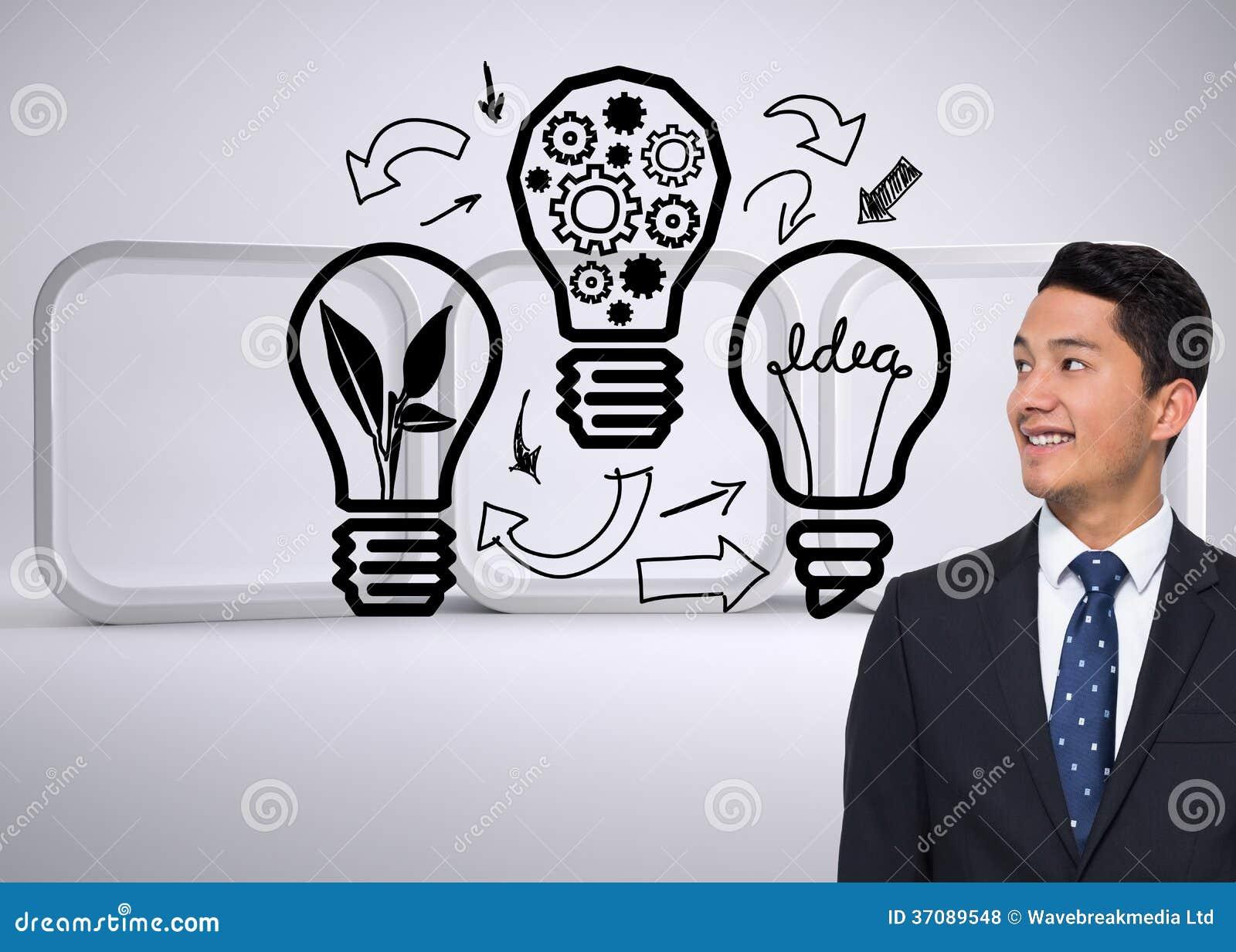 Download Uśmiechnięty Azjatykci Biznesmen Zdjęcie Stock - Obraz złożonej z digitalis, pomysł: 37089548