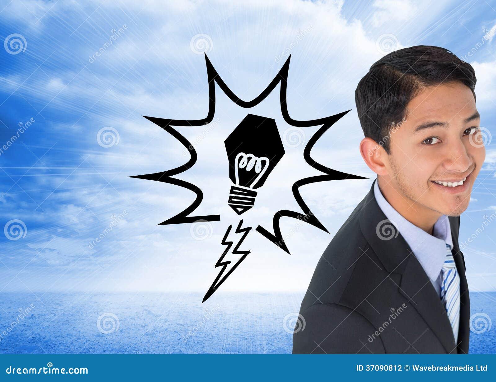Download Uśmiechnięty Azjatykci Biznesmen Zdjęcie Stock - Obraz złożonej z biznes, digitalis: 37090812