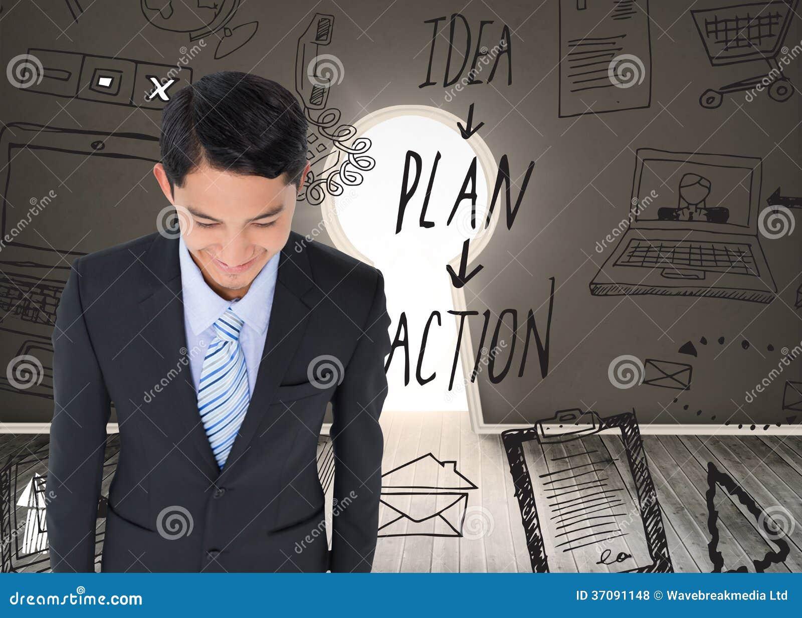 Download Uśmiechnięty Azjatykci Biznesmen Zdjęcie Stock - Obraz złożonej z eskapizm, akcja: 37091148