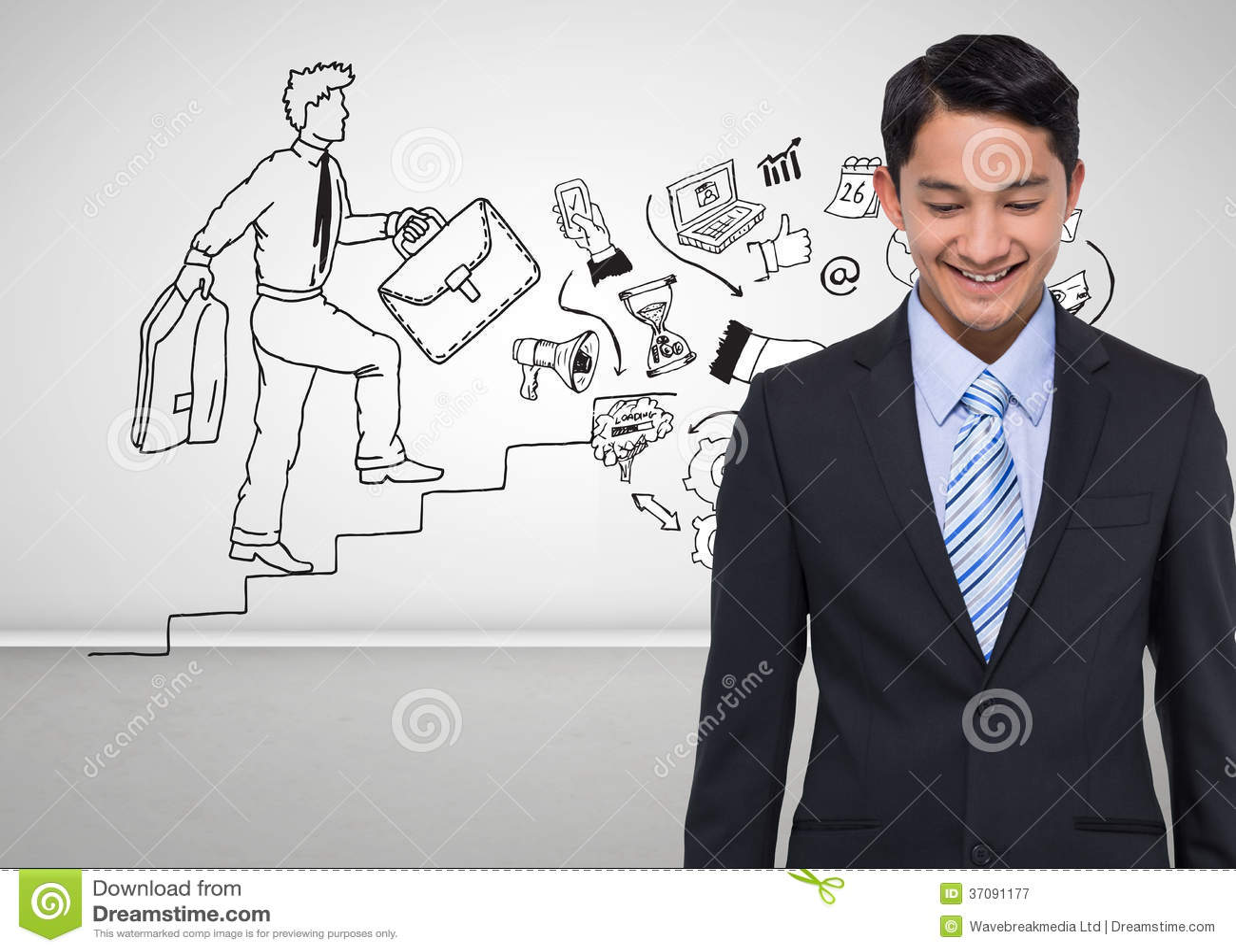 Download Uśmiechnięty Azjatykci Biznesmen Obraz Stock - Obraz złożonej z potomstwa, ubierający: 37091177