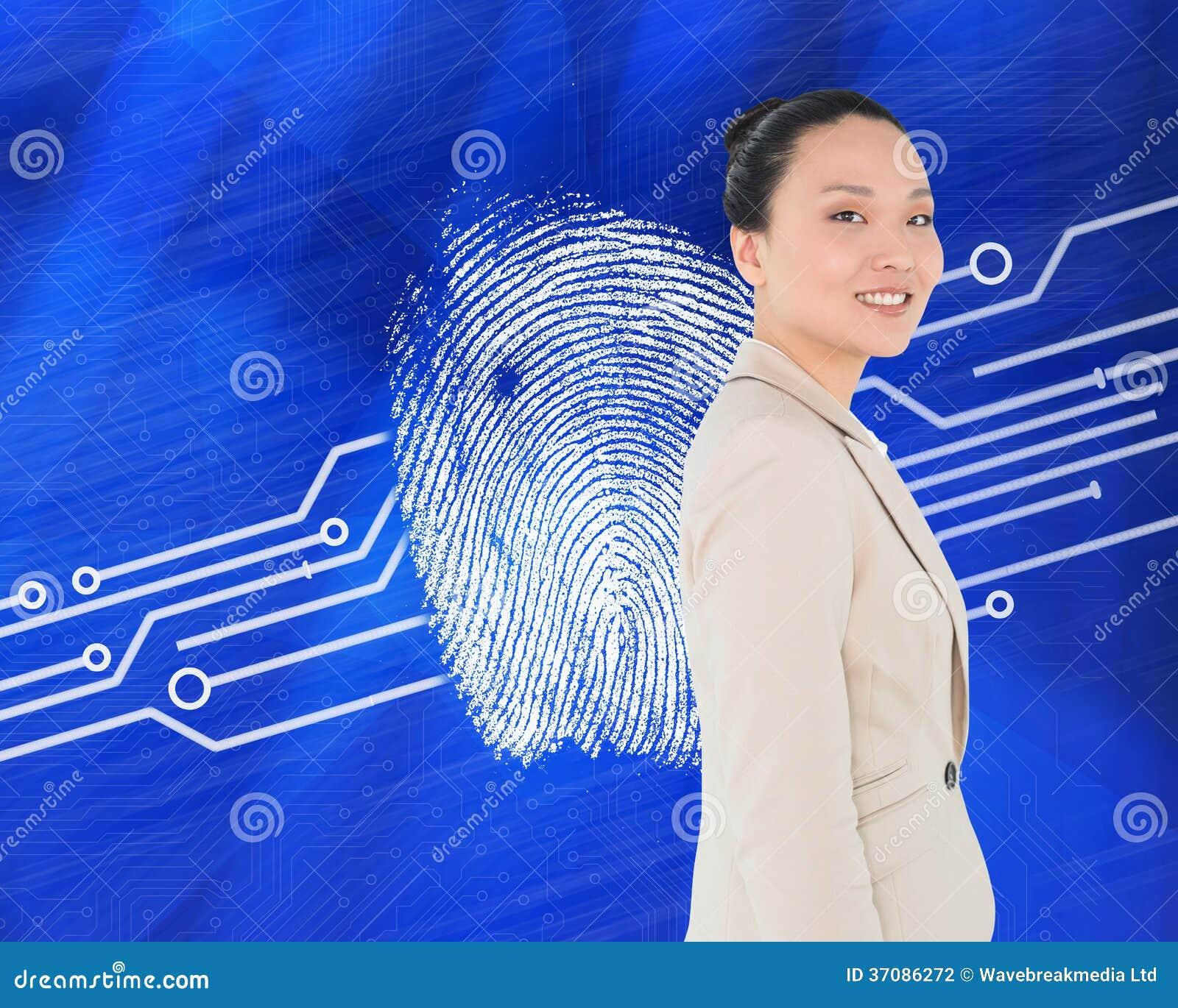 Download Uśmiechnięty Azjatykci Bizneswoman Zdjęcie Stock - Obraz złożonej z abstrakt, digitise: 37086272