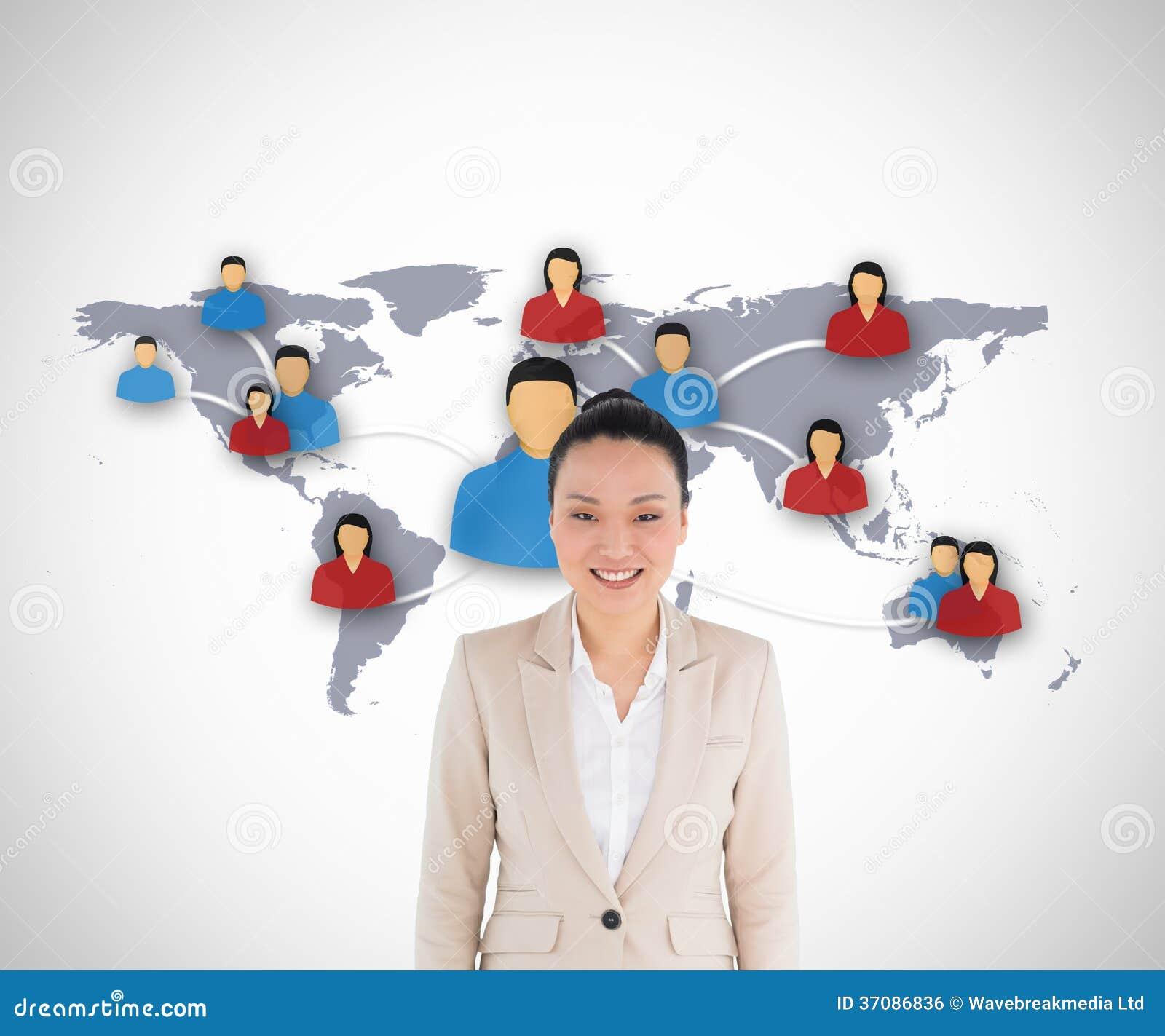 Download Uśmiechnięty Azjatykci Bizneswoman Zdjęcie Stock - Obraz złożonej z figurki, związek: 37086836