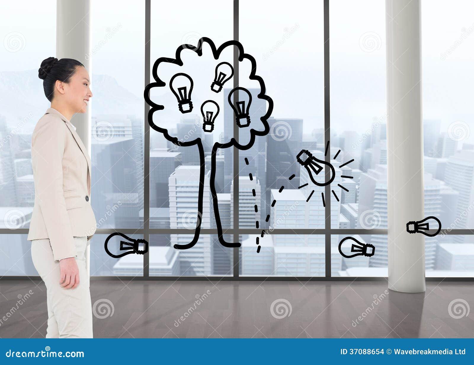 Download Uśmiechnięty Azjatykci Bizneswomanu Odprowadzenie Zdjęcie Stock - Obraz złożonej z profesjonalizm, osoba: 37088654