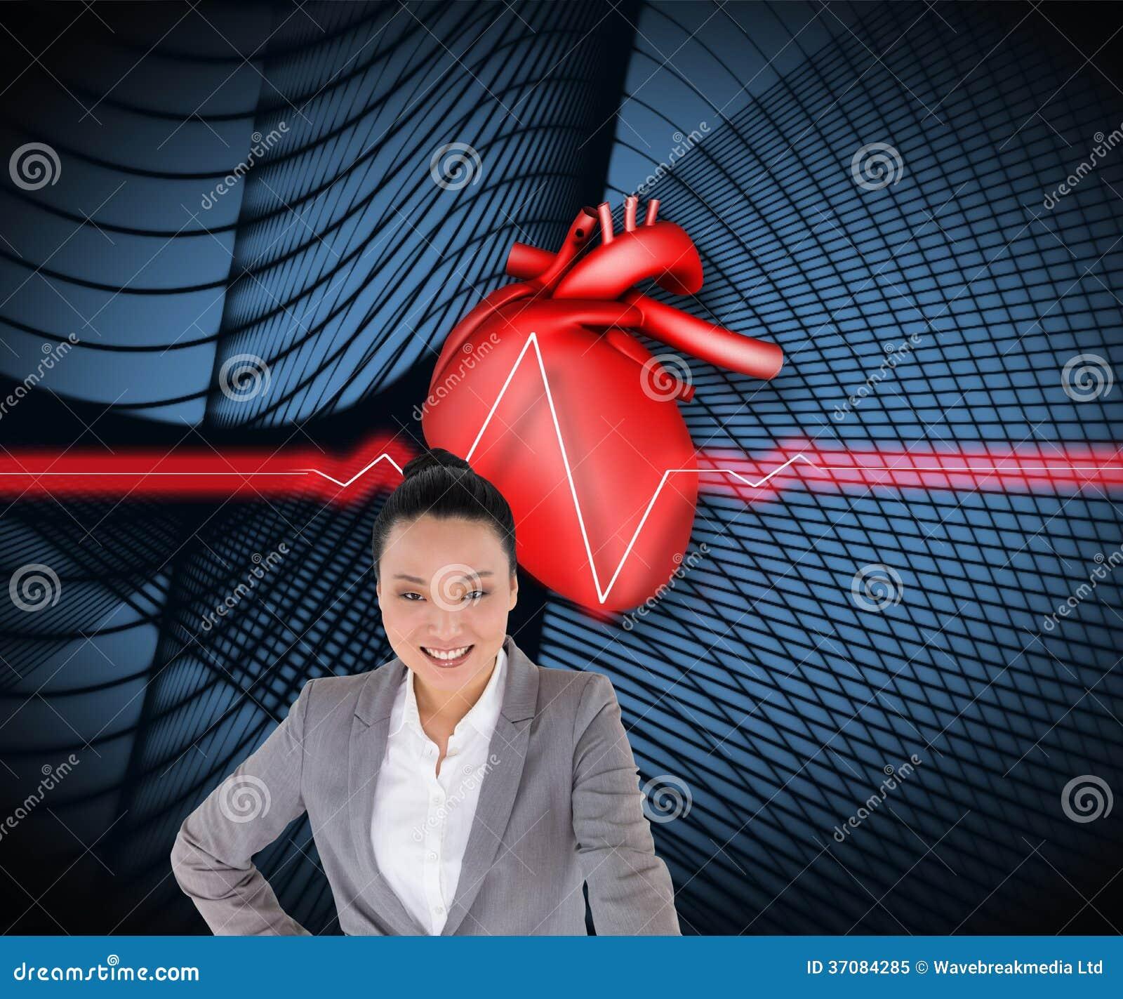 Download Uśmiechnięty Azjatykci Bizneswomanu Wskazywać Obraz Stock - Obraz złożonej z kostium, czerń: 37084285