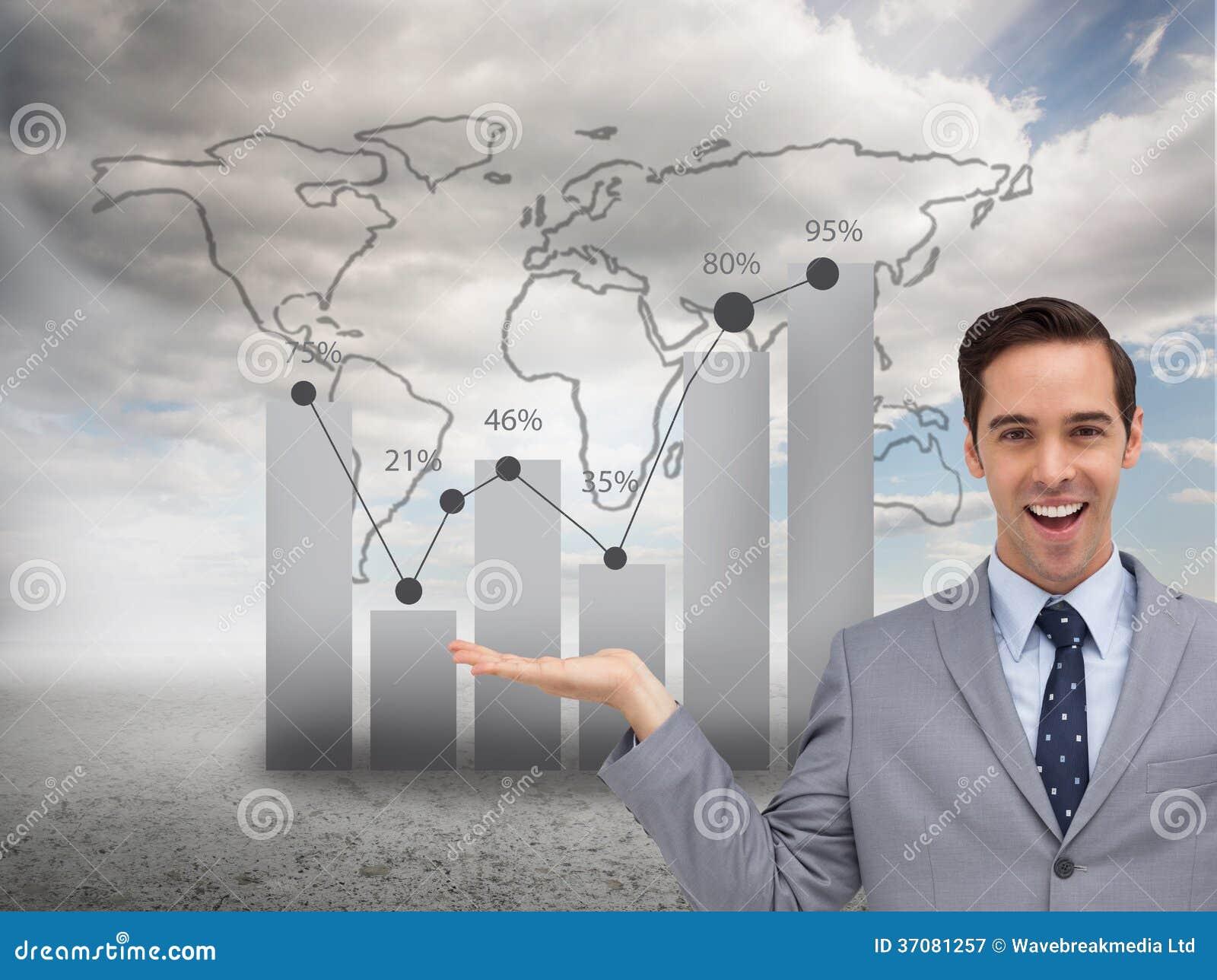 Download Uśmiechnięty Biznesmen Przedstawia Coś Z Jego Ręki Obraz Stock - Obraz złożonej z kostium, opustoszały: 37081257