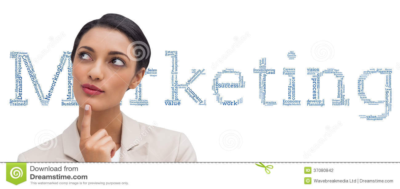 Download Uśmiechnięty Bizneswomanu Główkowanie Zdjęcie Stock - Obraz złożonej z brzęczenie, przeliterowany: 37080842