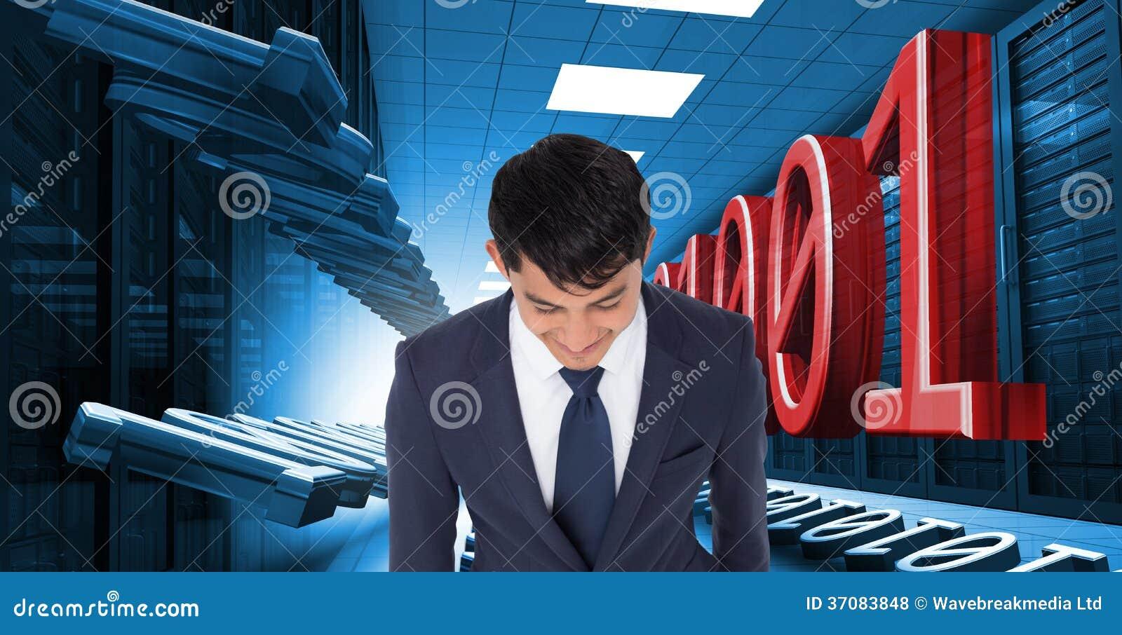 Download Uśmiechnięty Przypadkowy Biznesmena Odprowadzenie Zdjęcie Stock - Obraz złożonej z database, osoba: 37083848
