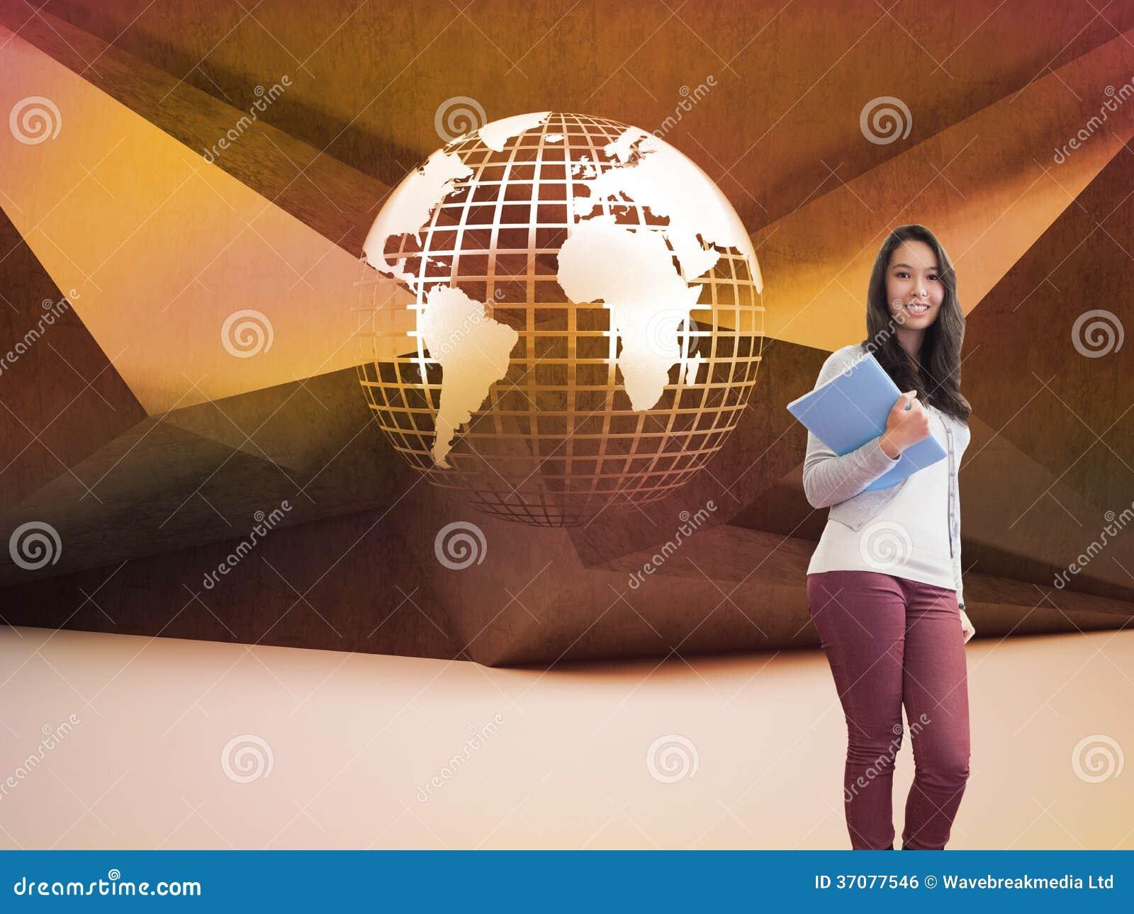 Download Uśmiechnięty Uczeń W Komputerowym Pokoju Ilustracji - Ilustracja złożonej z brąz, international: 37077546