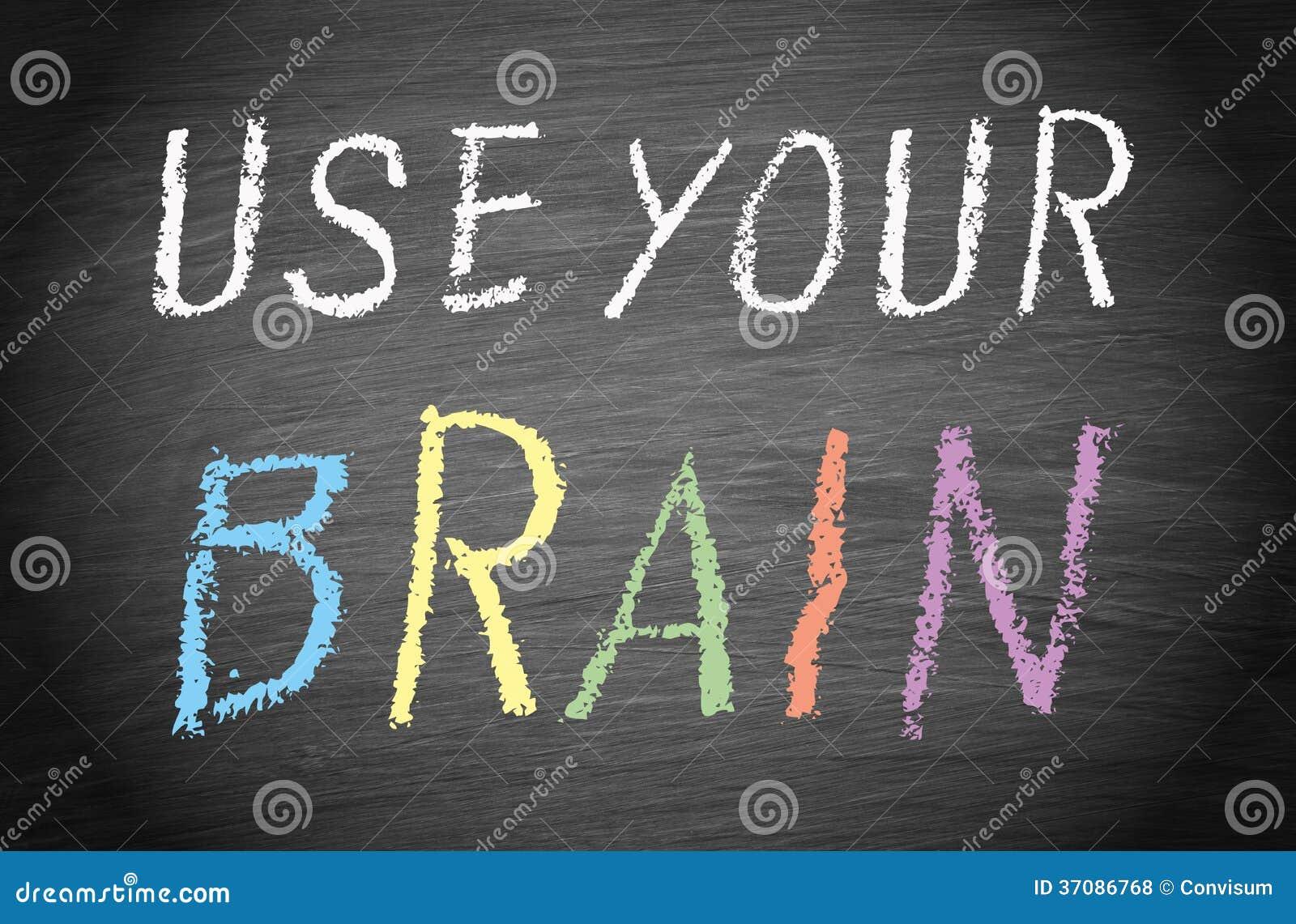Download Używać twój mózg zdjęcie stock. Obraz złożonej z purpury - 37086768