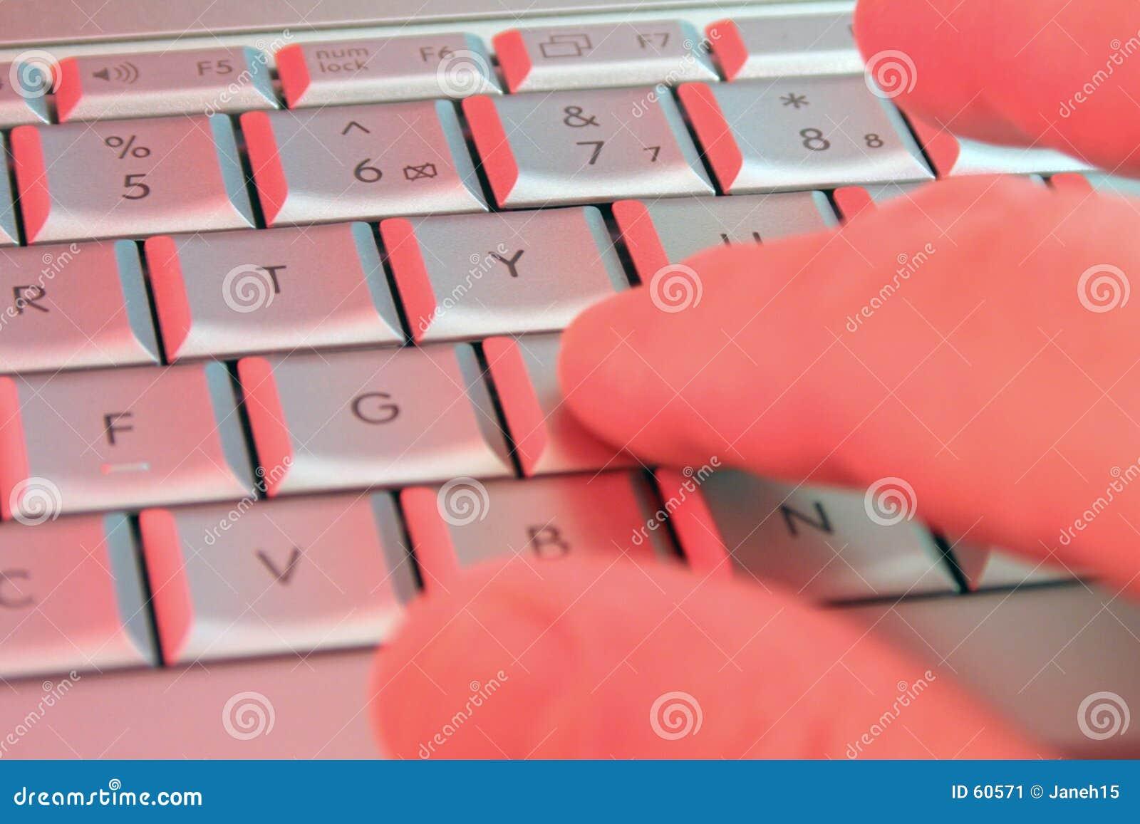 Używając laptopa