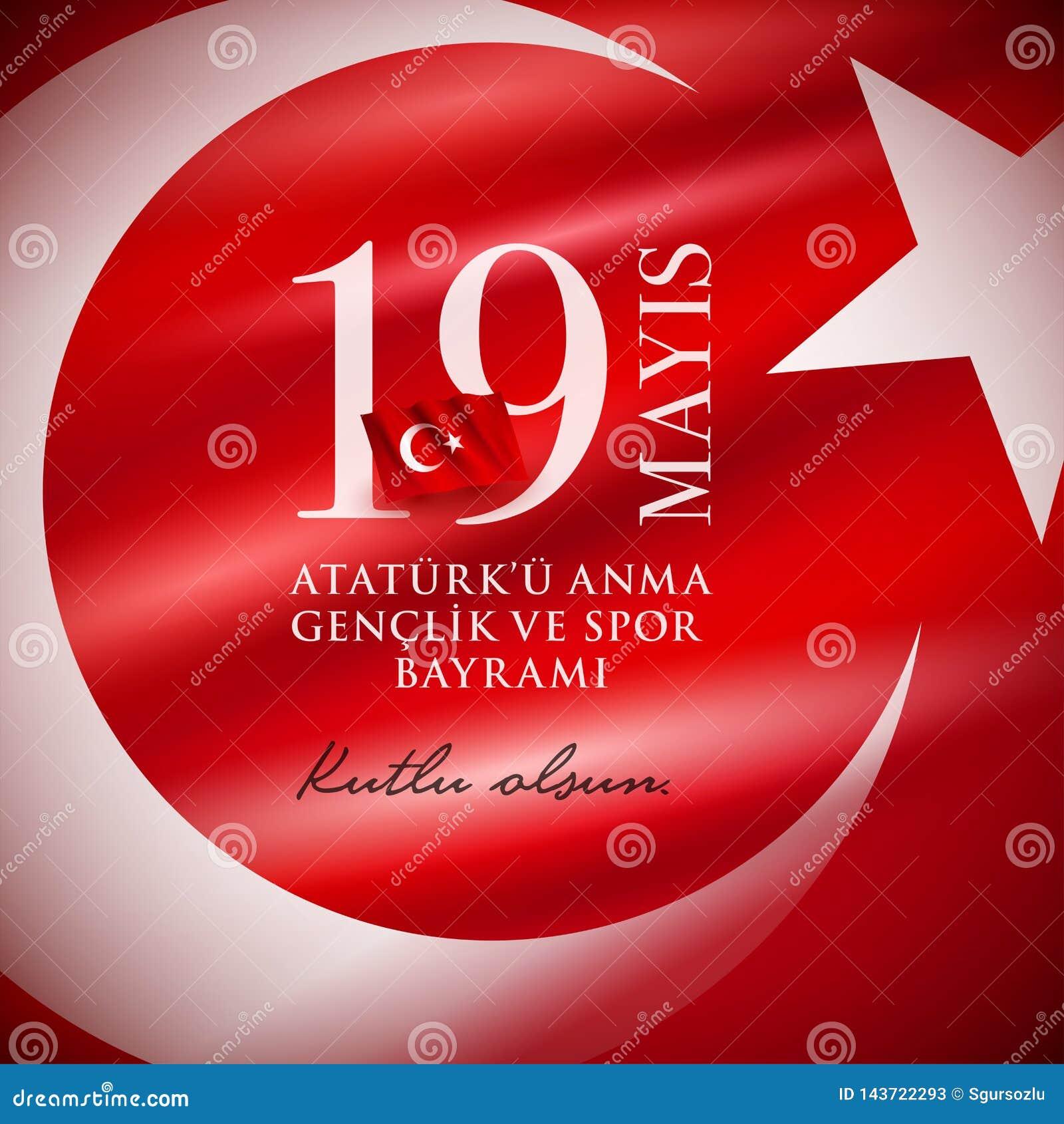 ` u Anma Genclik VE Spor Bayrami di Ataturk di 19 mayis
