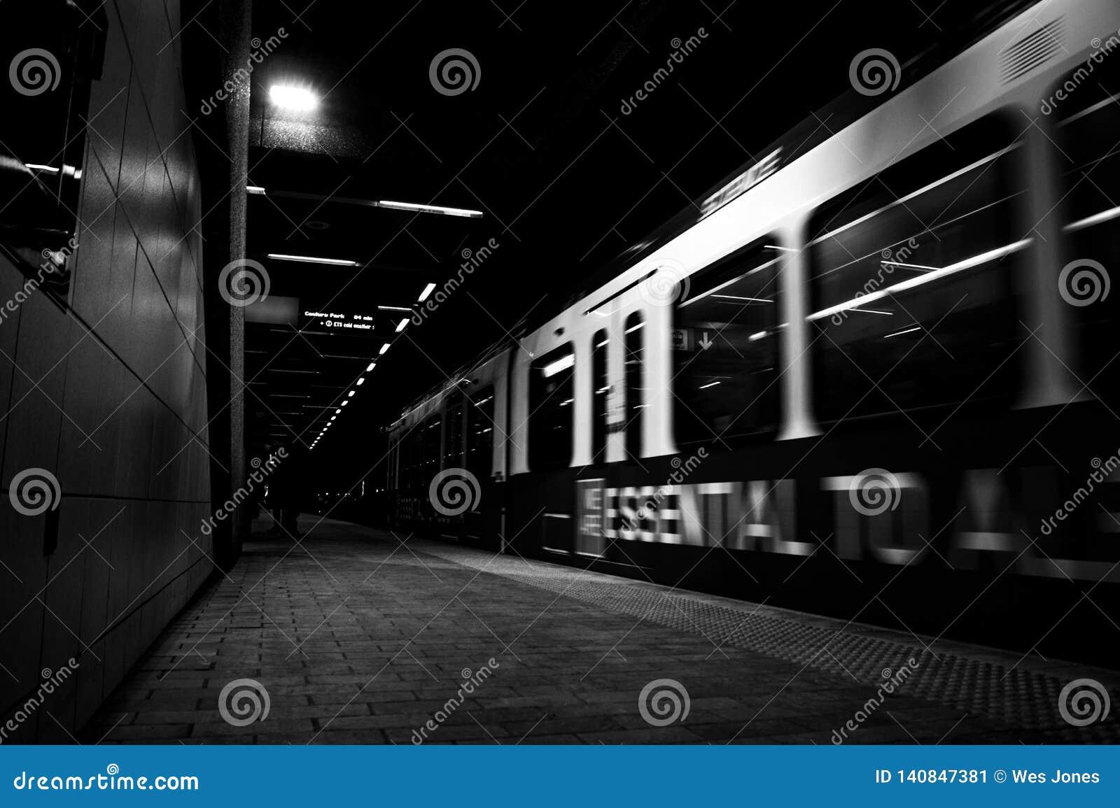 U-Bahn im Tunnel