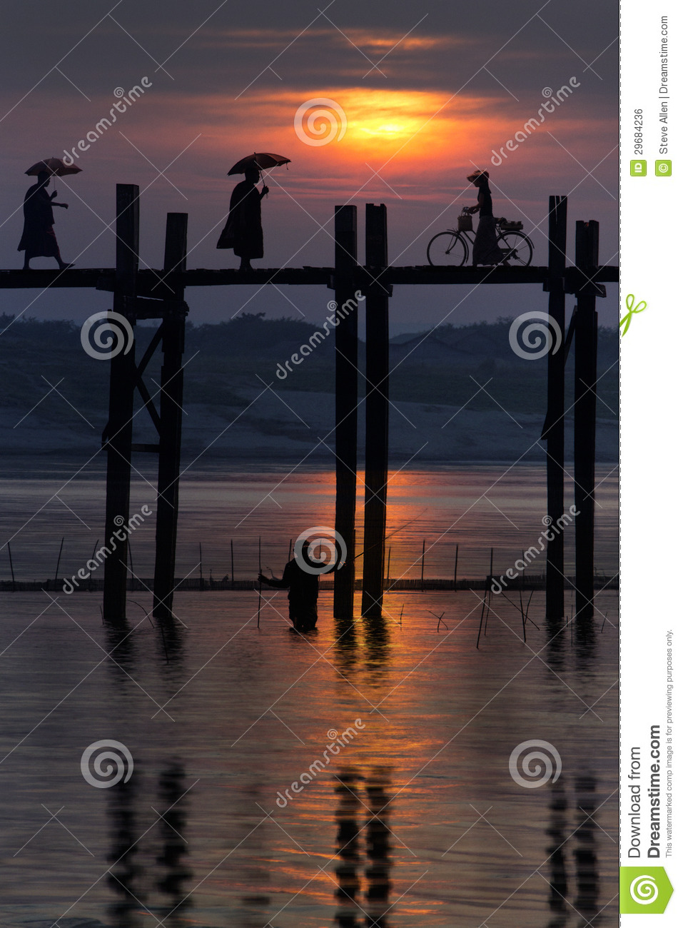 U Bein Bridge - Mandalay - Myanmar (Burma)