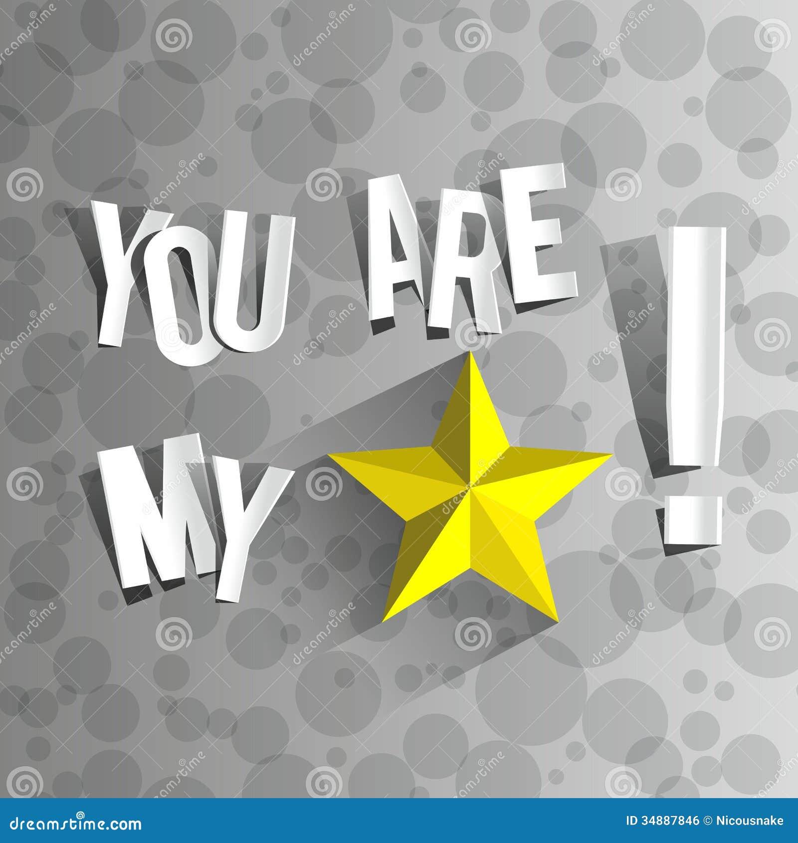 U bent mijn ster royalty vrije stock afbeelding afbeelding 34887846 - Een ster in mijn cabine ...
